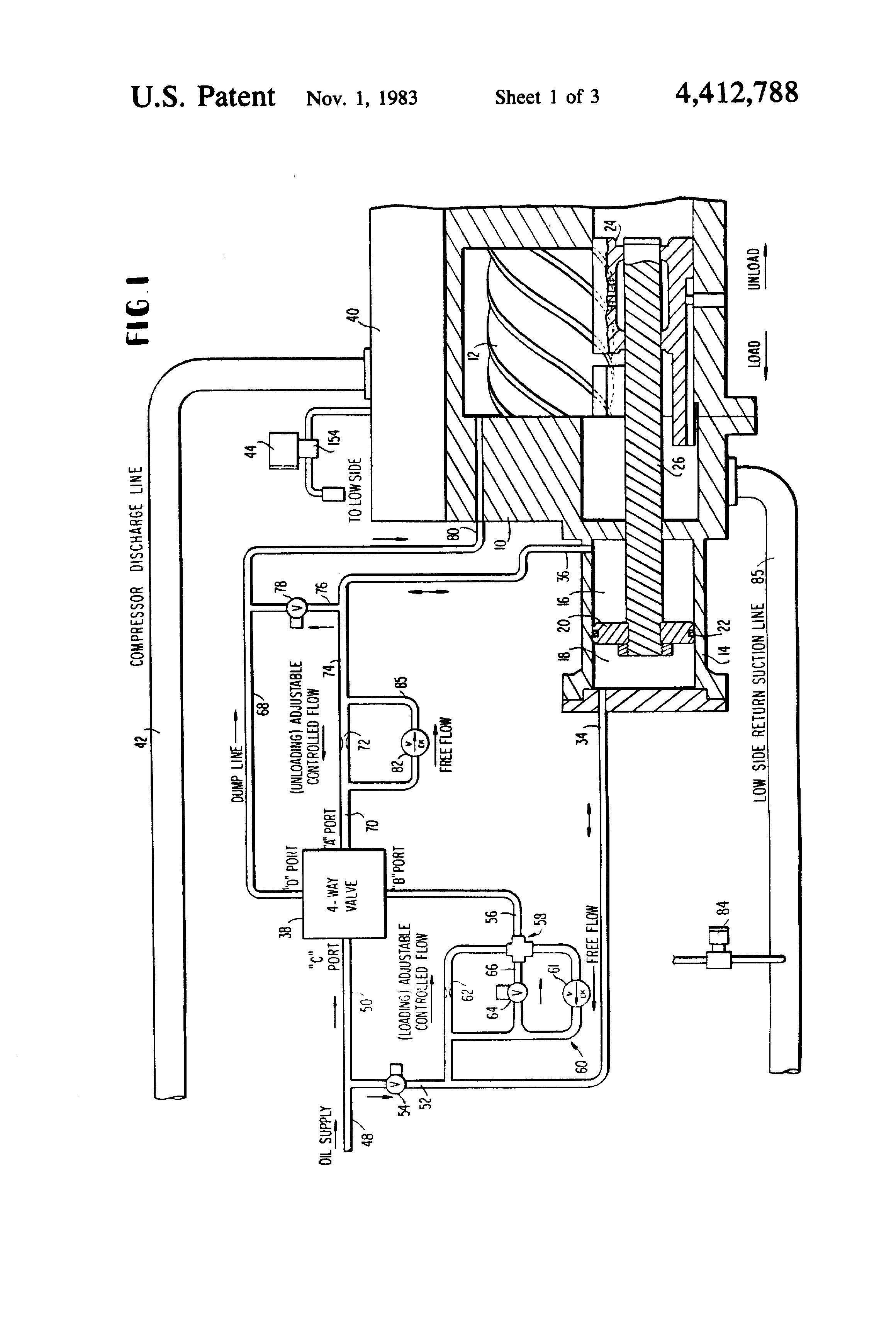 patent us4412788 control system for screw compressor google patent drawing
