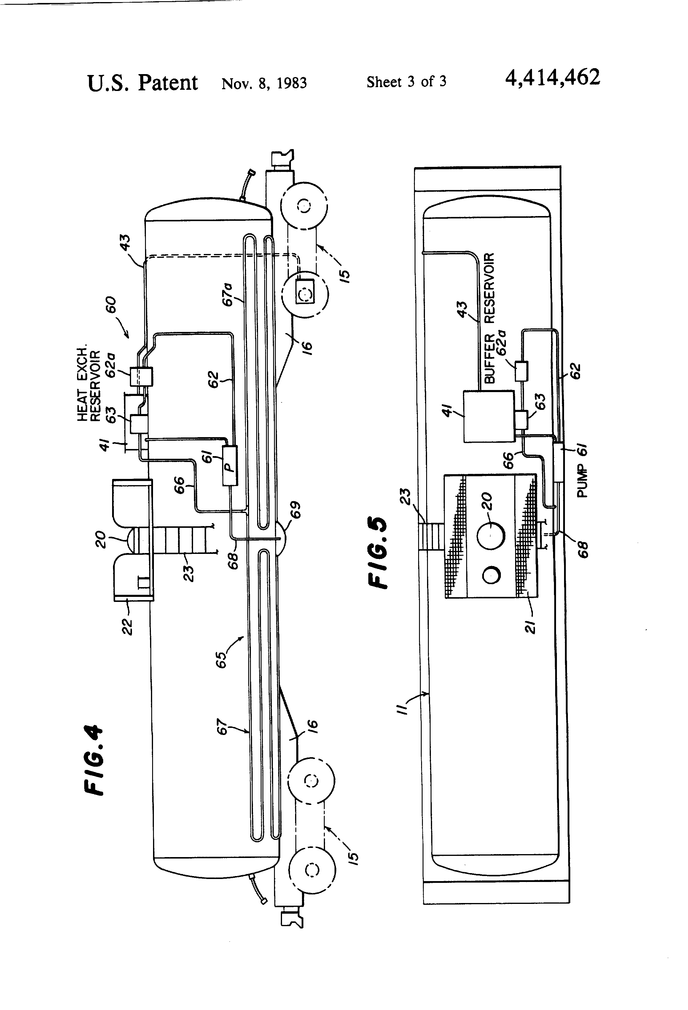 patent us4414462 - tank car heating system