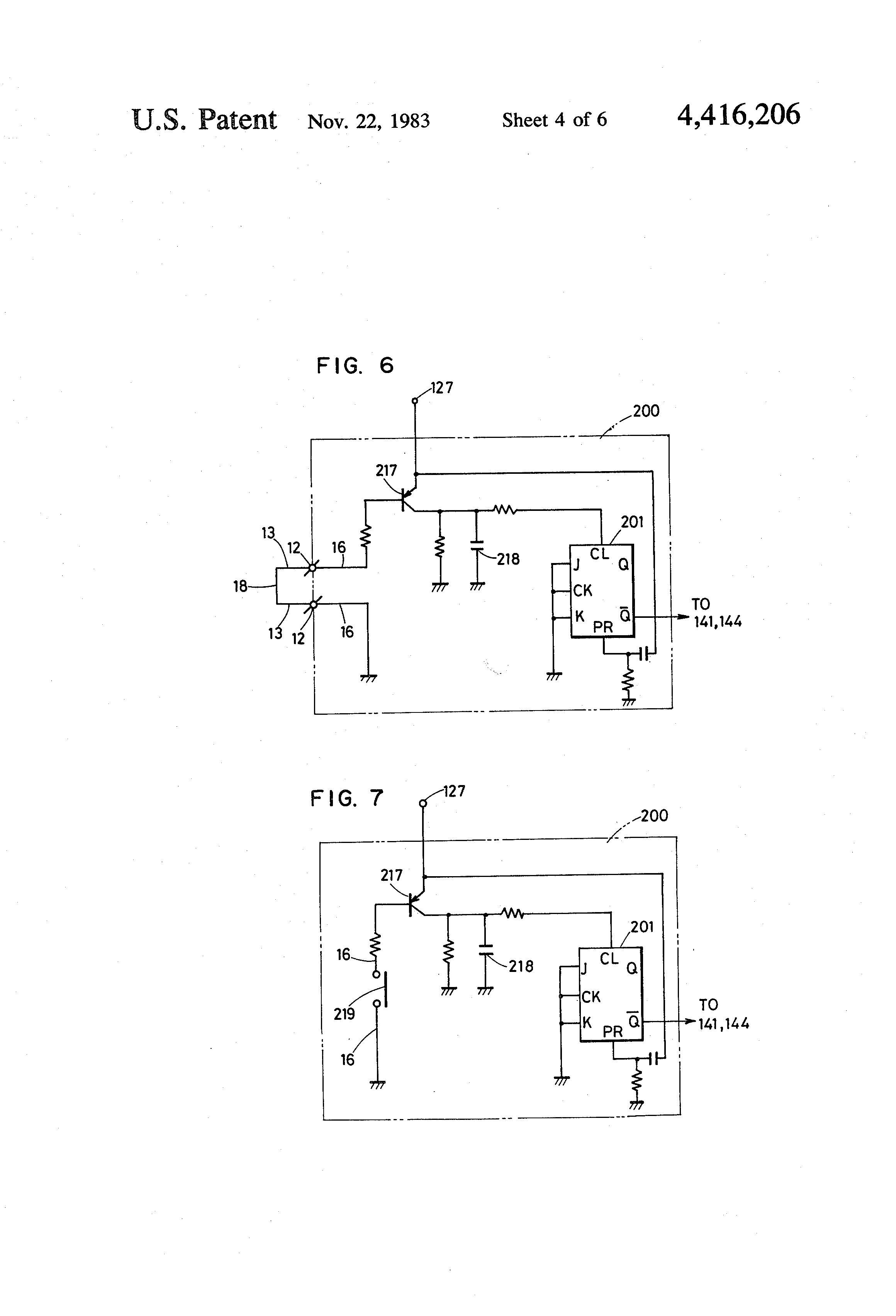 US4416206 4 wiring diagrams besides sewing machine wiring diagram on presser