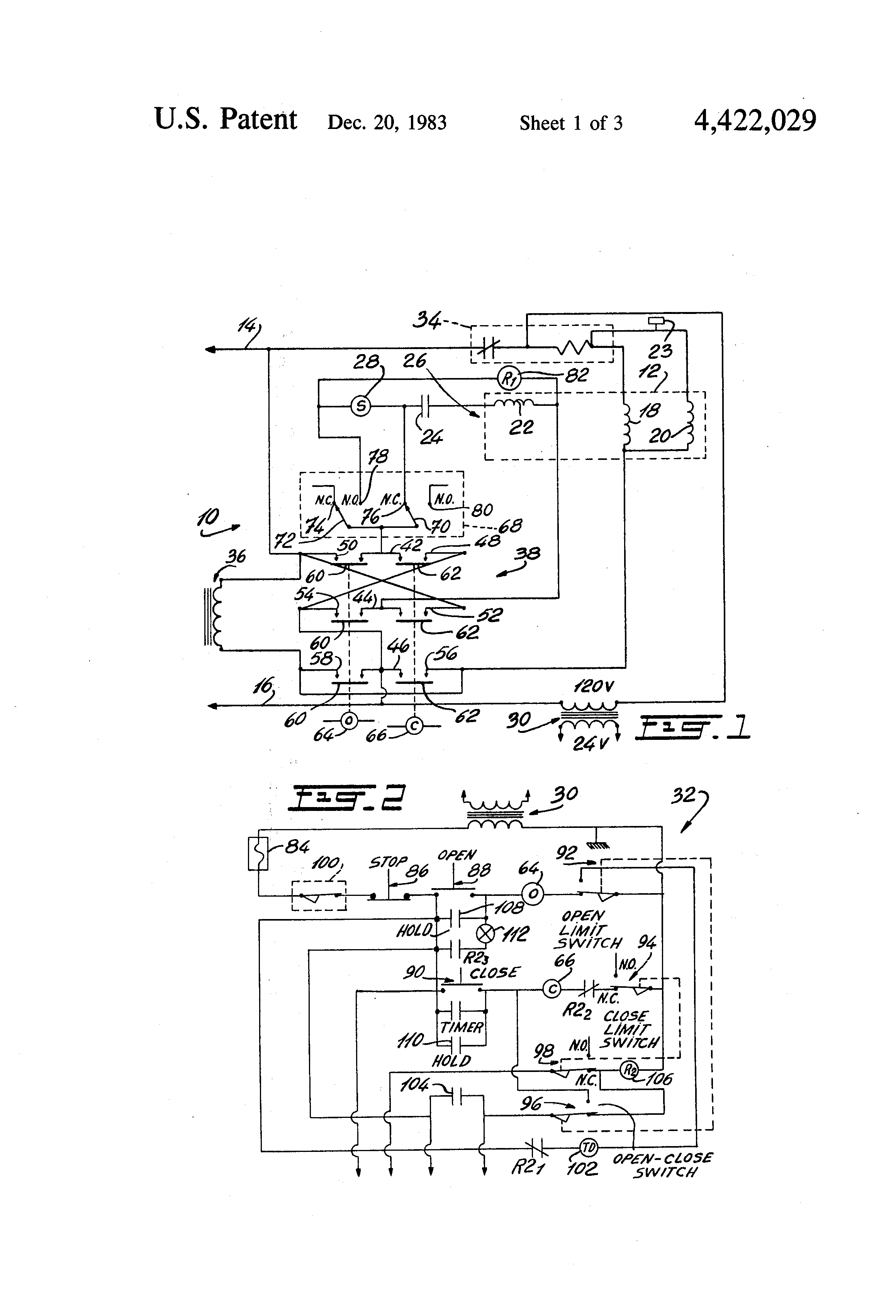Patent US Instant Reverse Control Circuit For A Single - Motor control using relay circuit diagram