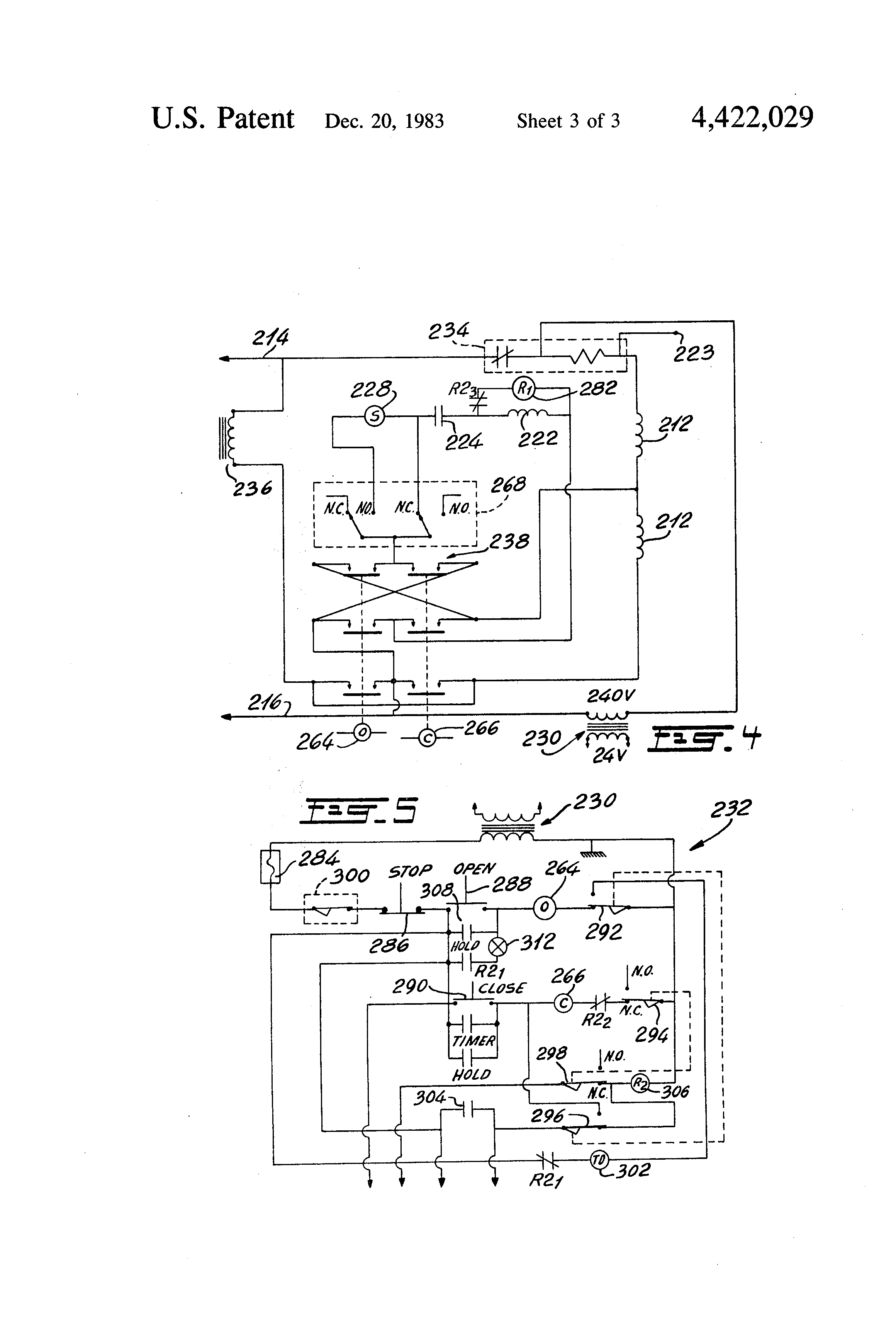 US4422029 3 patent us4422029 instant reverse control circuit for a single 120 volt capacitor start motor wiring diagram at soozxer.org