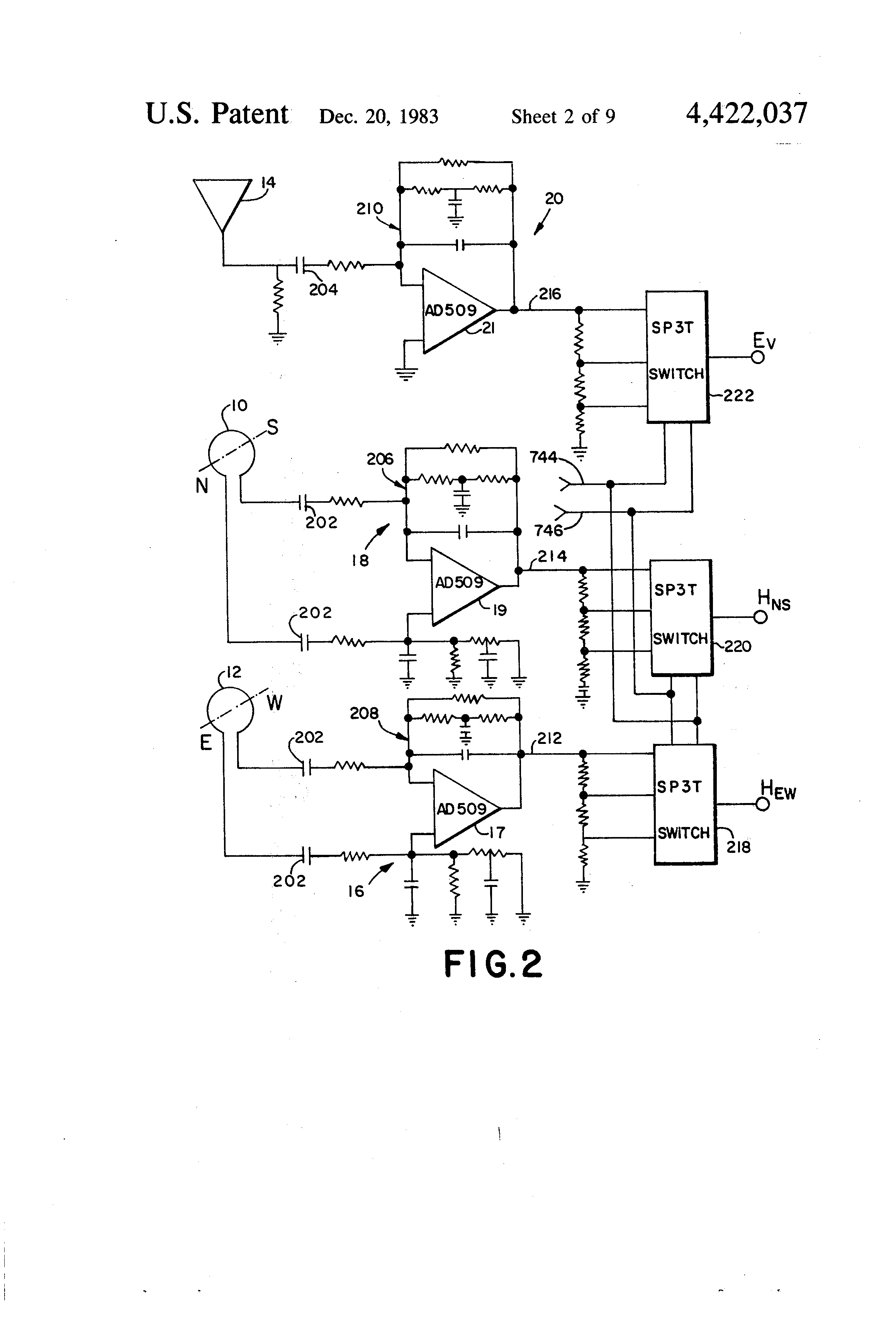 Patent Us4422037 Storm Warning Method And Apparatus Google Patents Ac Dc Converter Circuit Diagram Composed Of Ad536 Is Shown As The Drawing