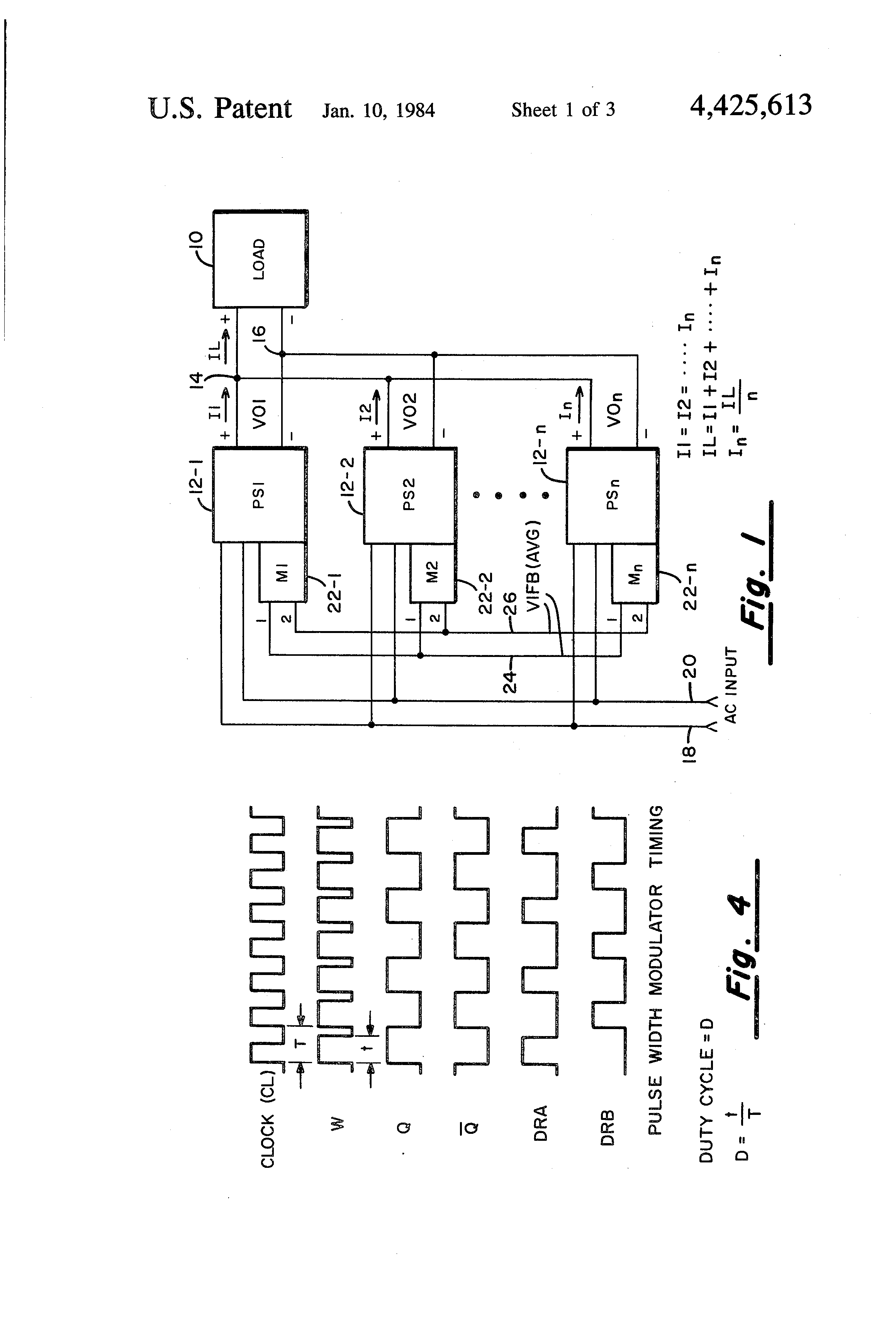 patent us4425613 - forced load sharing circuit for inverter power supply
