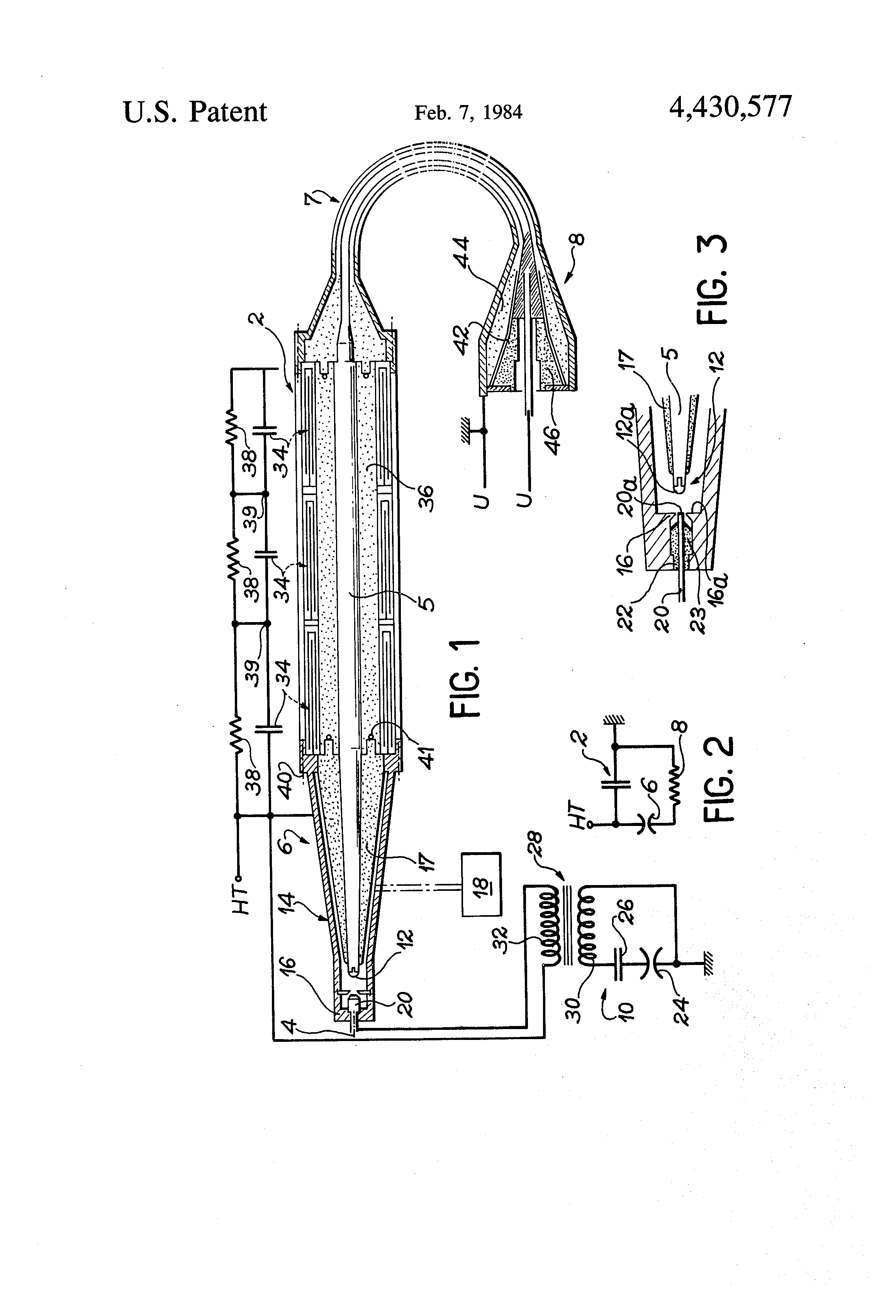 patent us4430577 - high voltage electromagnetic pulse generator