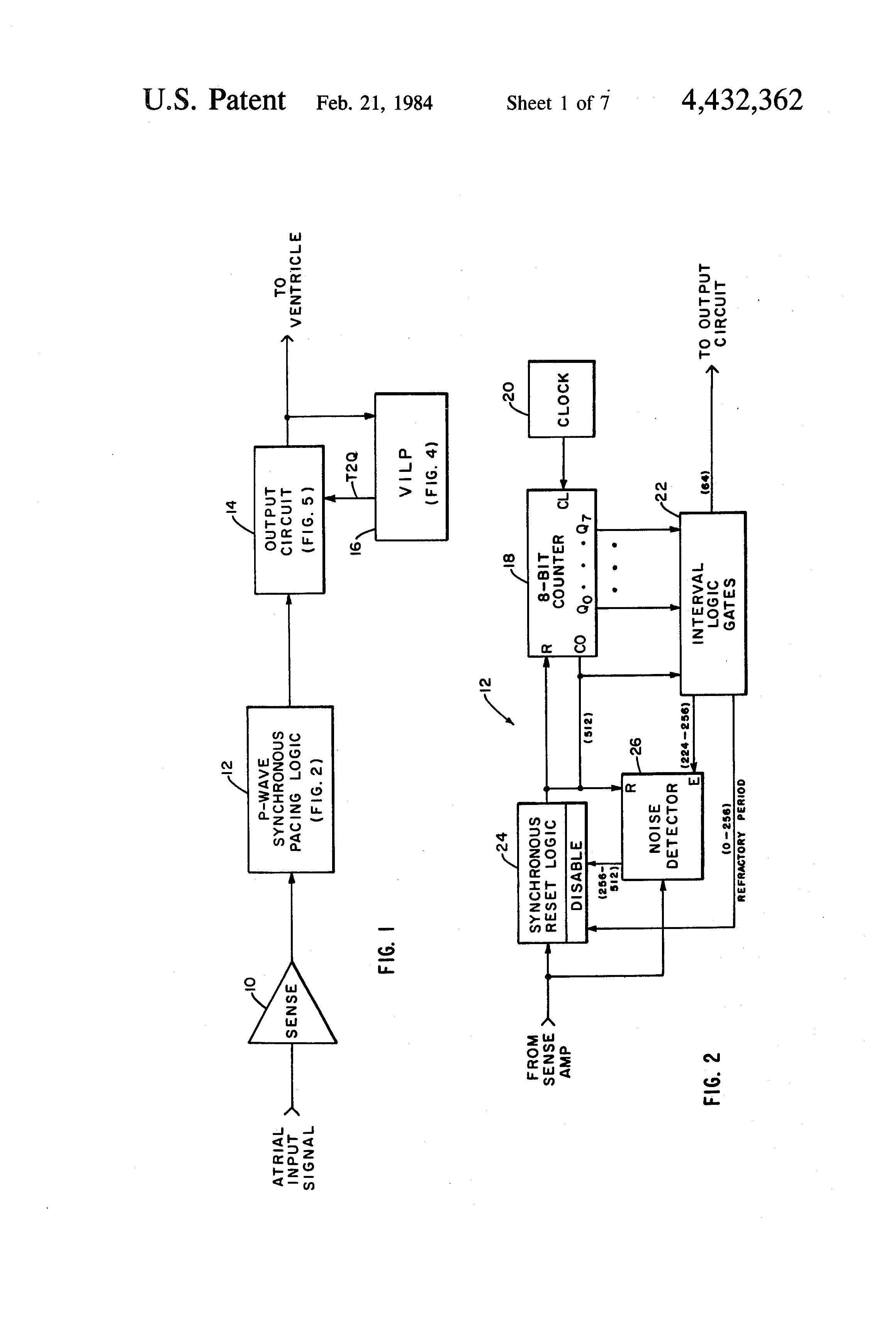 patent us4432362 - atrial-based  atrial-ventricular sequential cardiac pacer