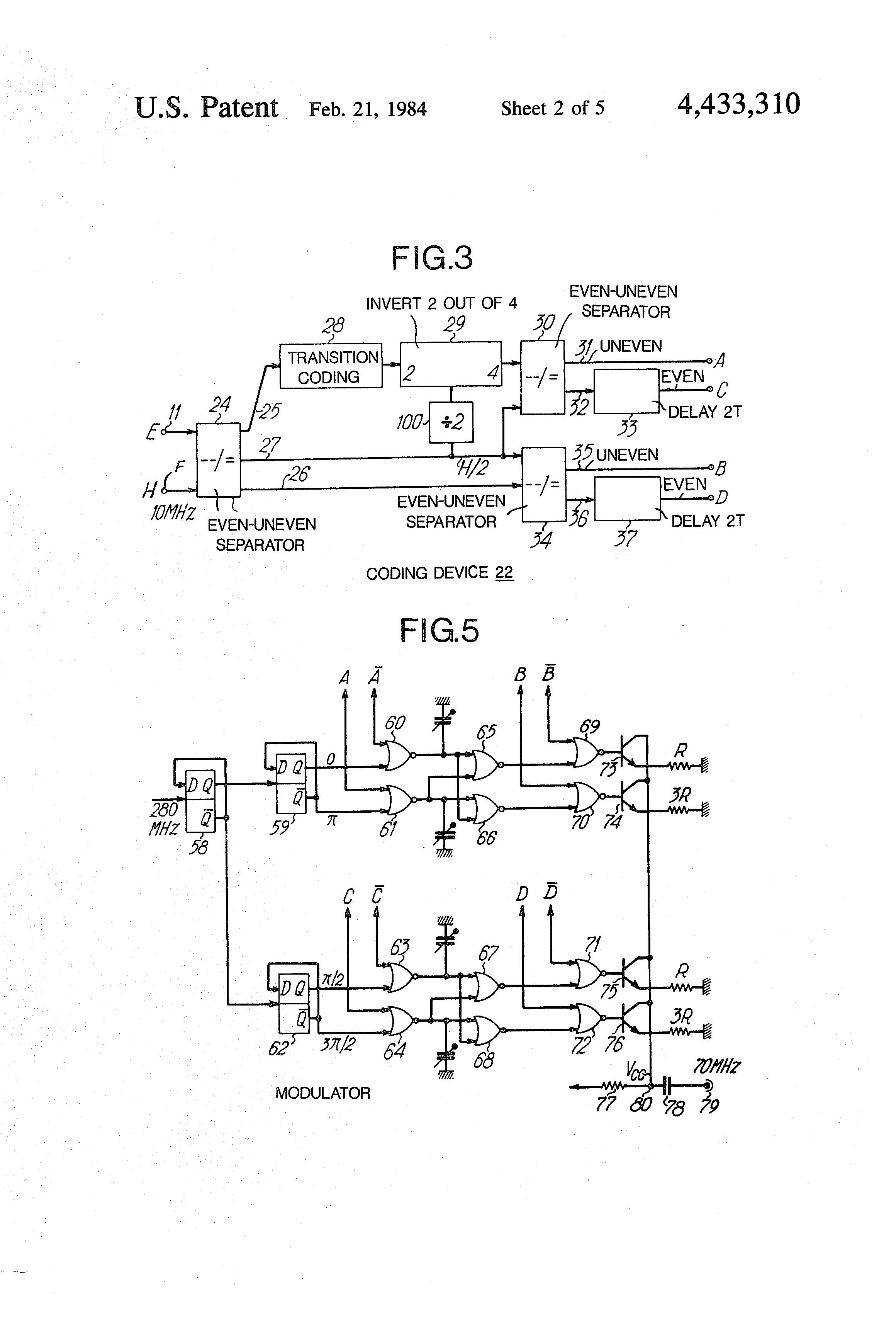 Brevet Us4433310 Modulator Demodulator For Four Level Double Am Modulation And Demodulation Circuit Patent Drawing