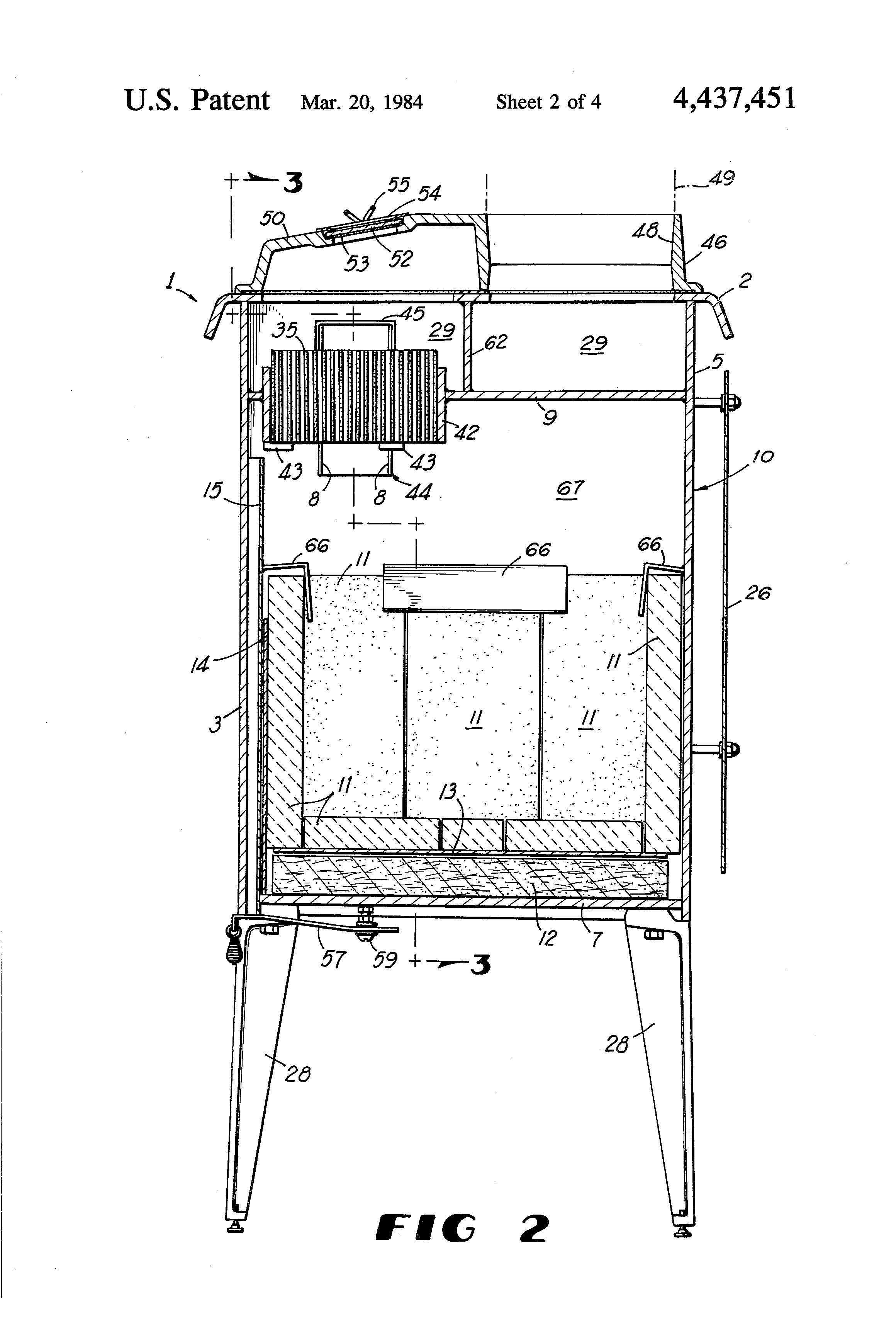 patent us4437451 stove with catalytic combustor and bypass