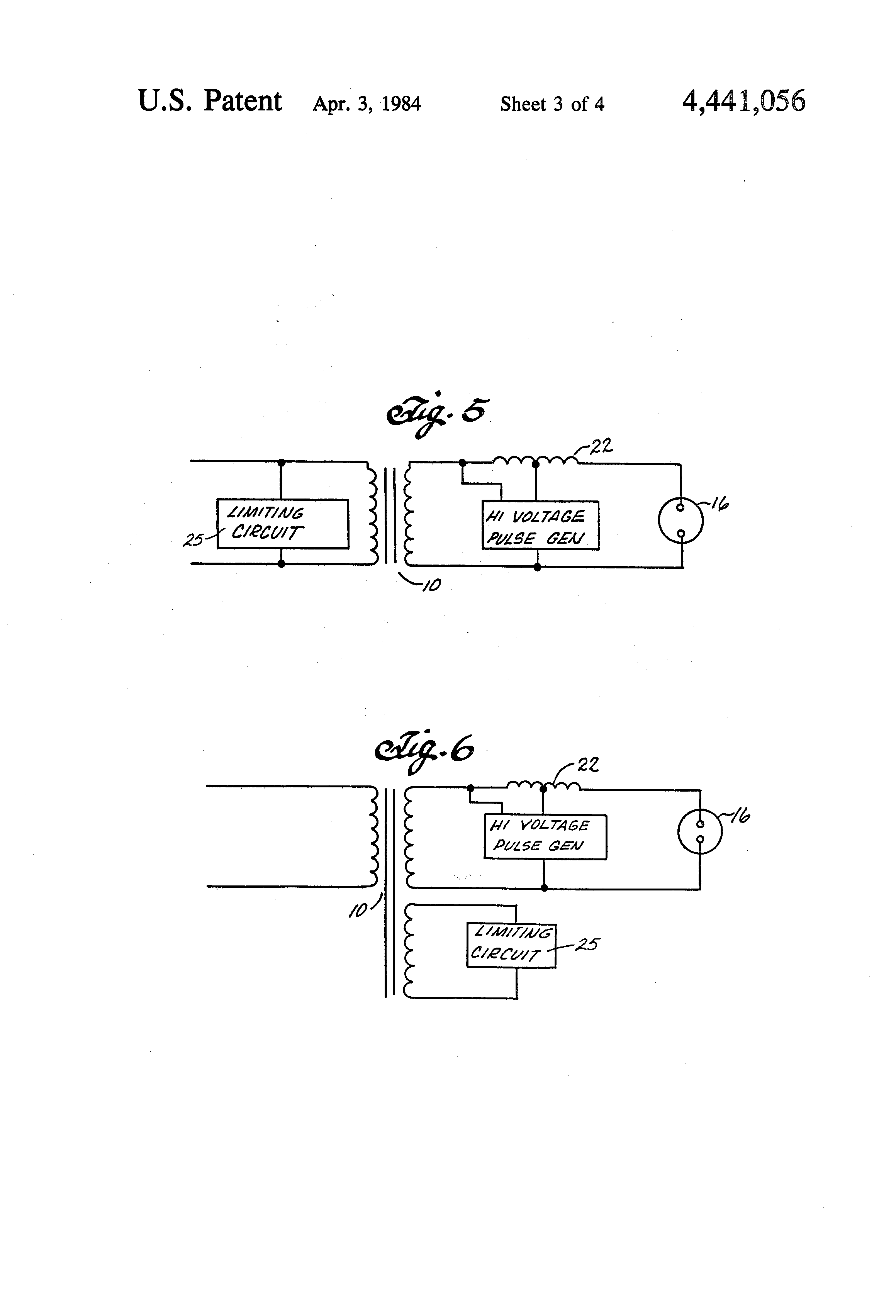 Patent Us4441056 High Pressure Sodium Lamp Ballast Circuit Vapor Light Wiring Diagram Drawing