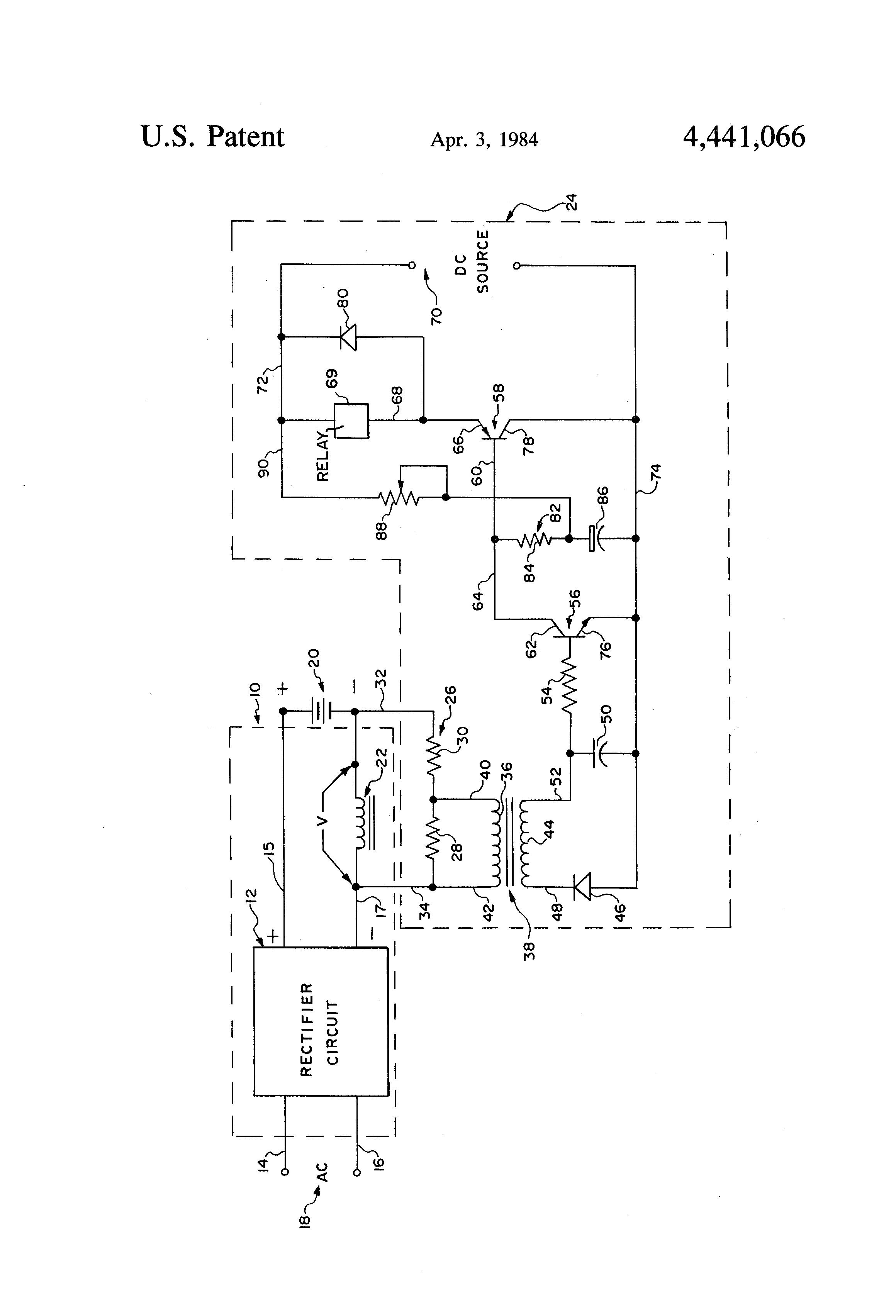 ... Patent US4441066 Battery charger failure alarm circuit Google \u2013 Ez Go Textron Battery Wiring Diagram ...
