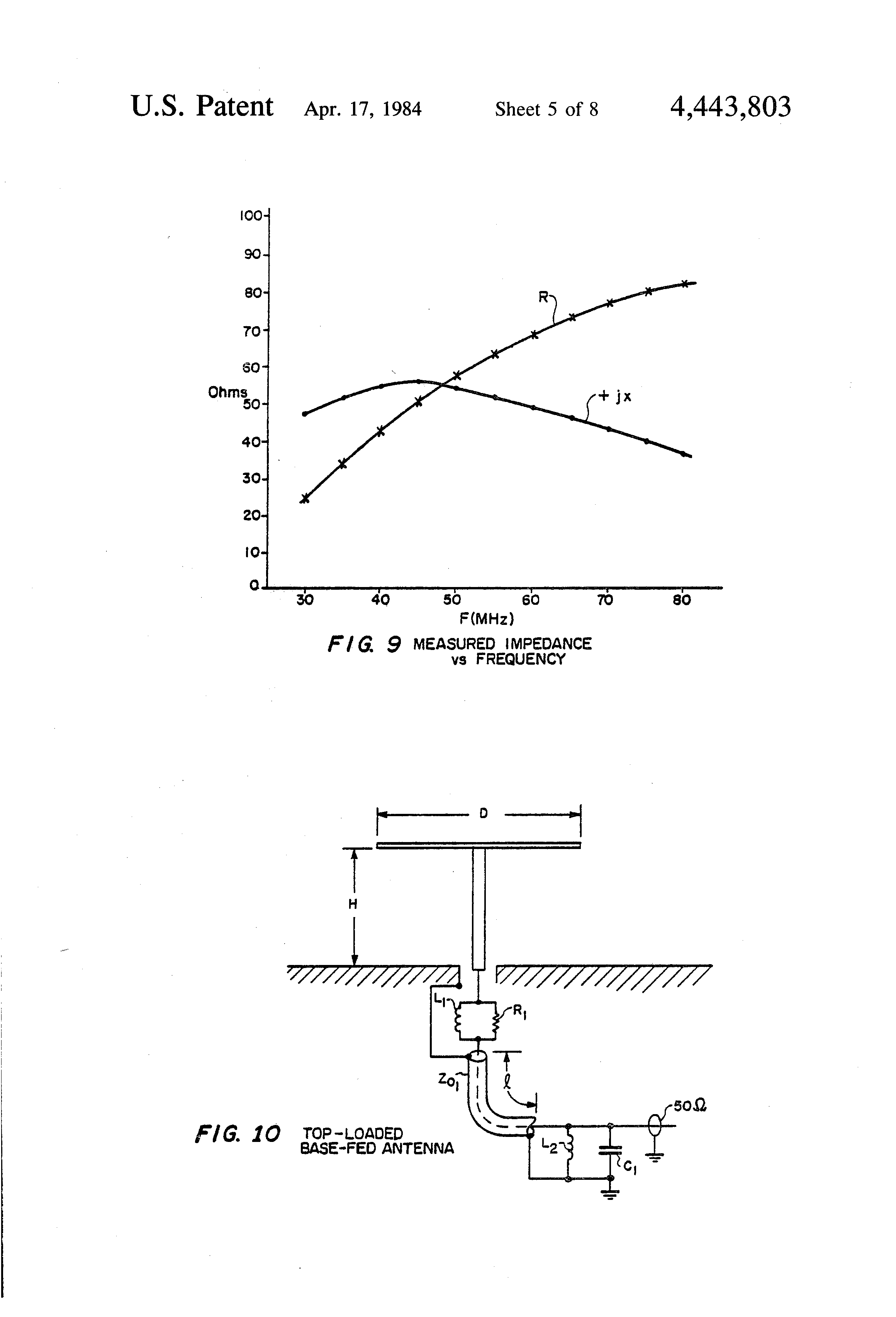 Patent Us4443803 Lossy Matching For Broad Bonding Low Profile Resistorinductor Circuits Reactance And Impedance Inductive Drawing
