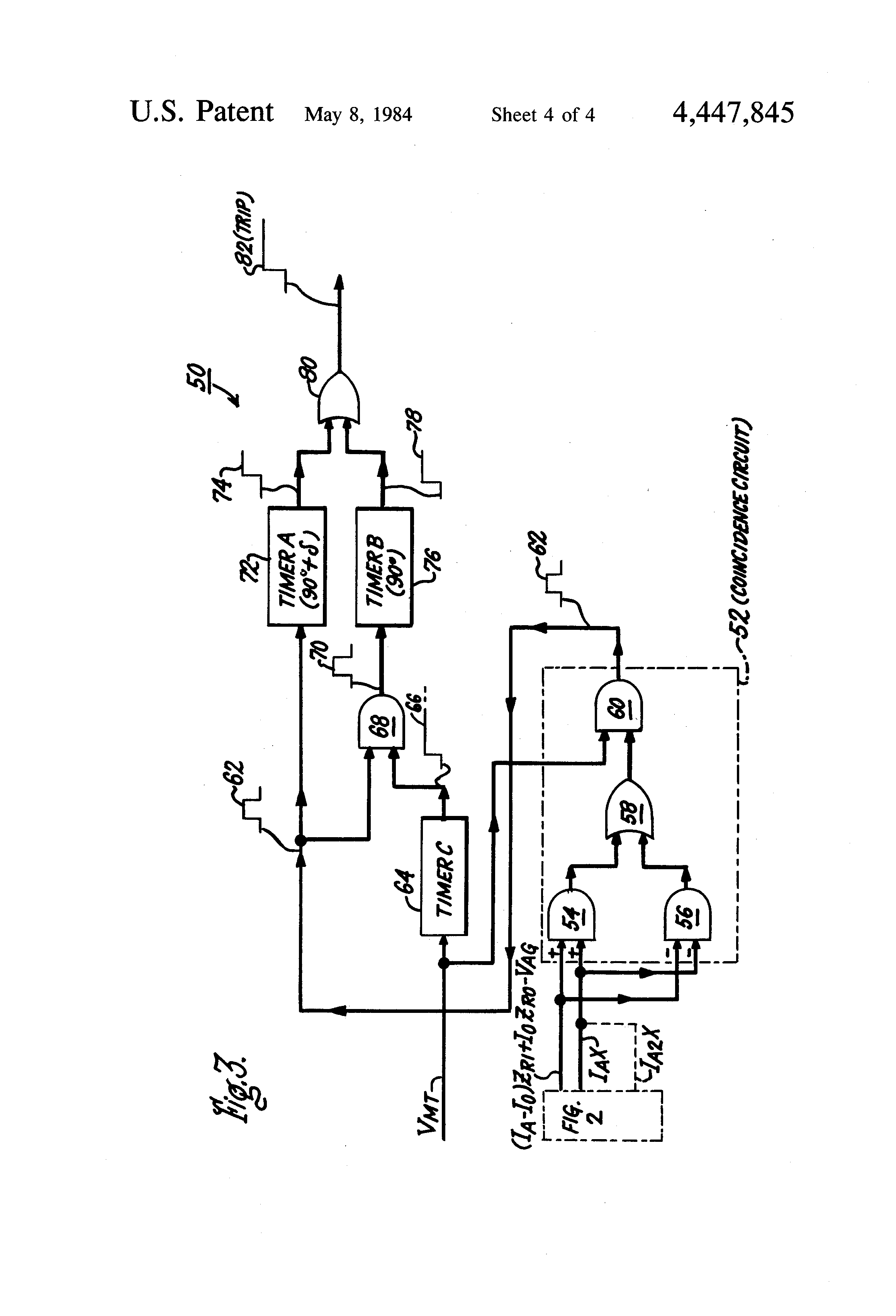 patent us4447845 - reactance relay