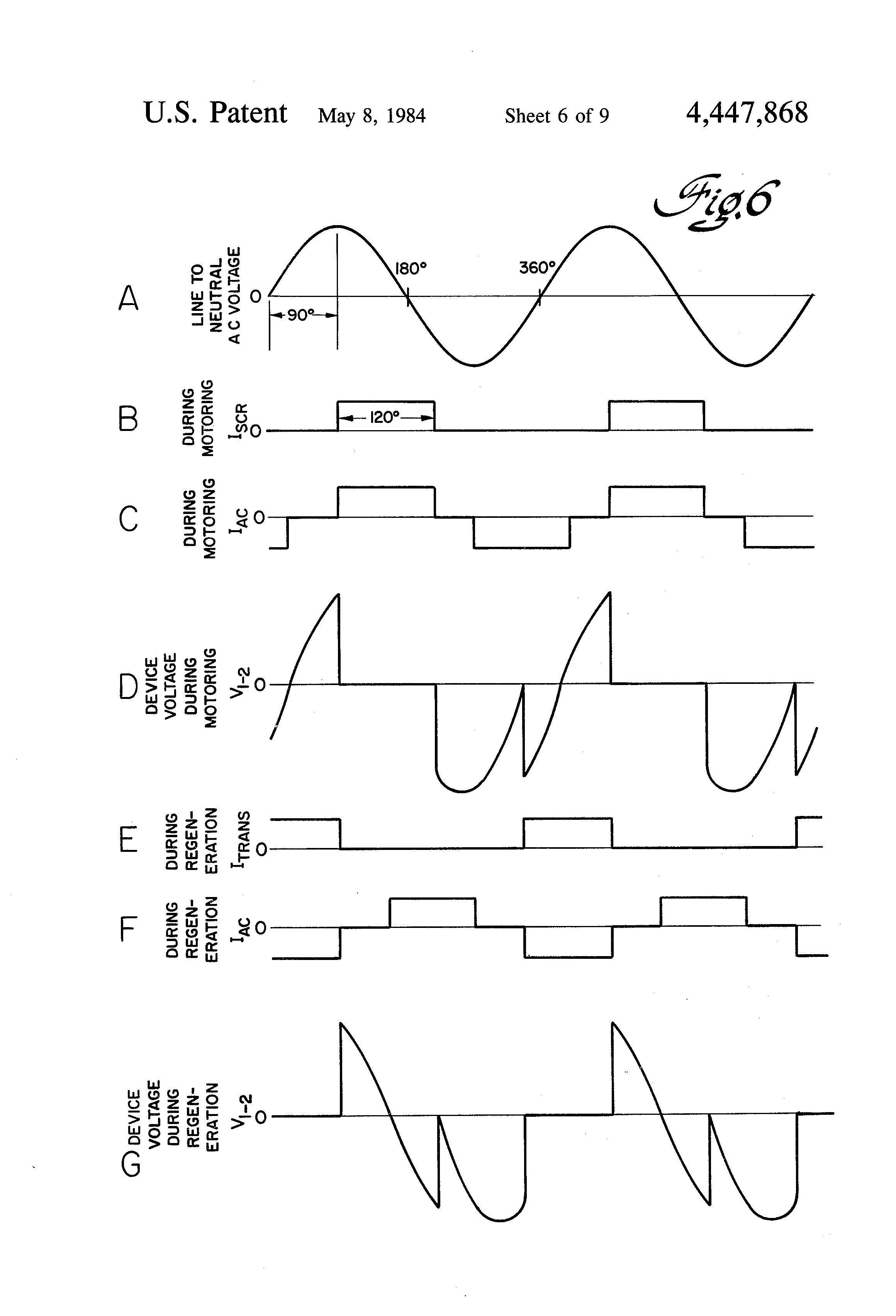 Patent Us4447868 Regenerative Rectifier Circuit Google Patents Control Diagram Transformer Phasor Rlc Drawing