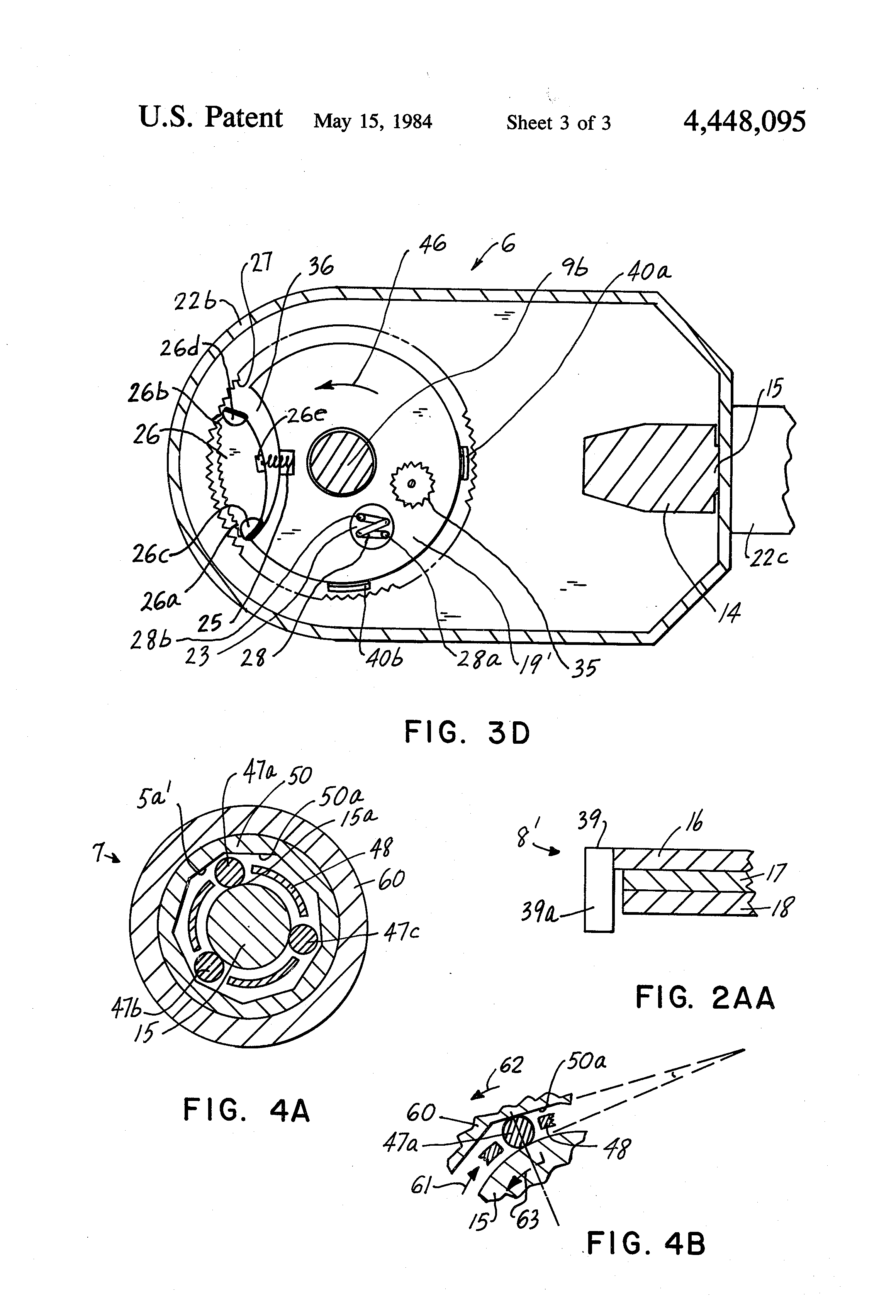patent us4448095 - ratchet wrench