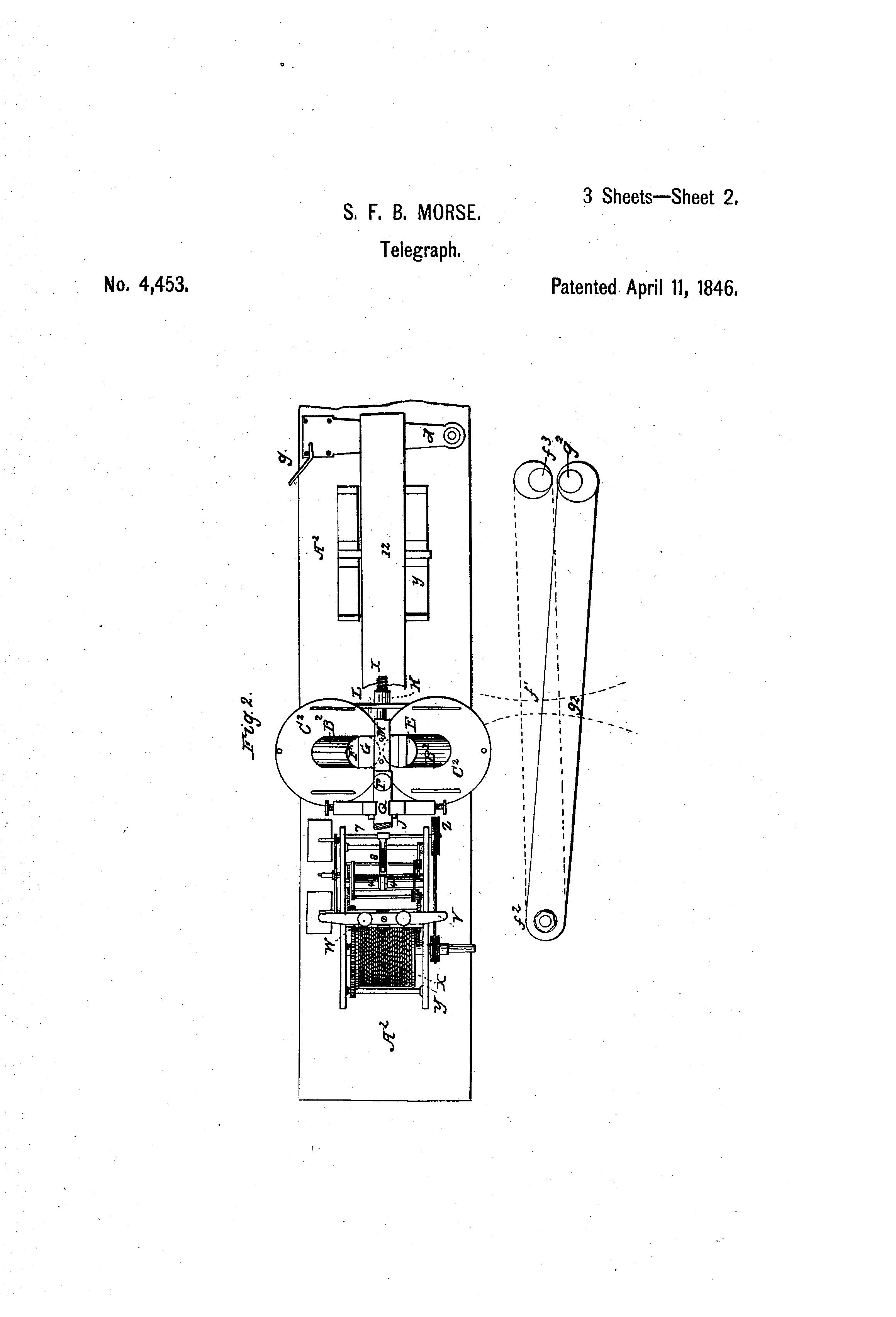 patent us4453 - improvement in electro-magnetic telegraphs