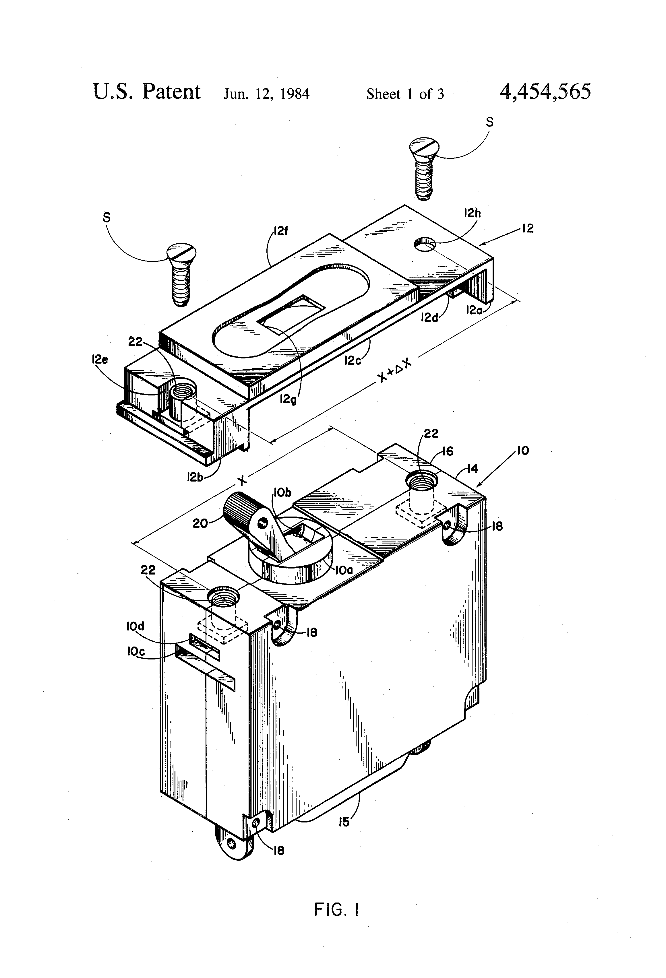 patent us4454565 - adapter plate assembly for circuit breaker