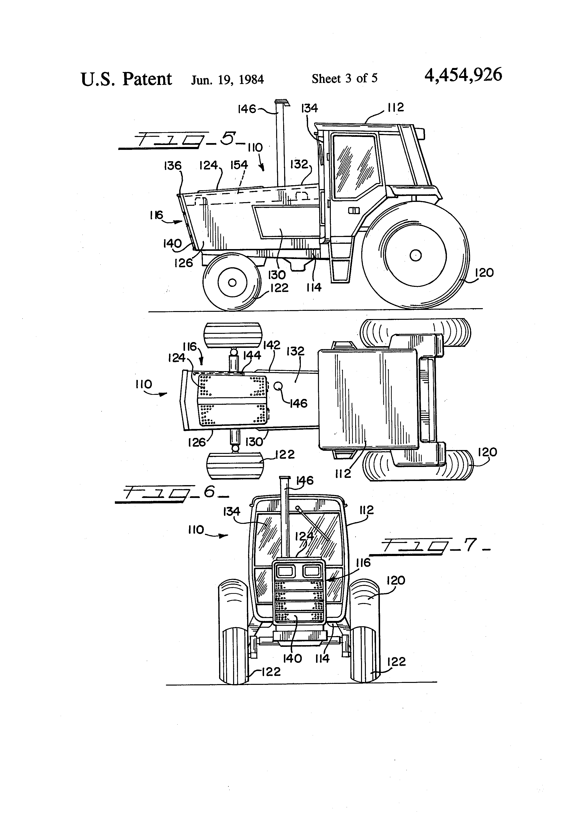 Patent US Air intake on a tractor engine hood Google