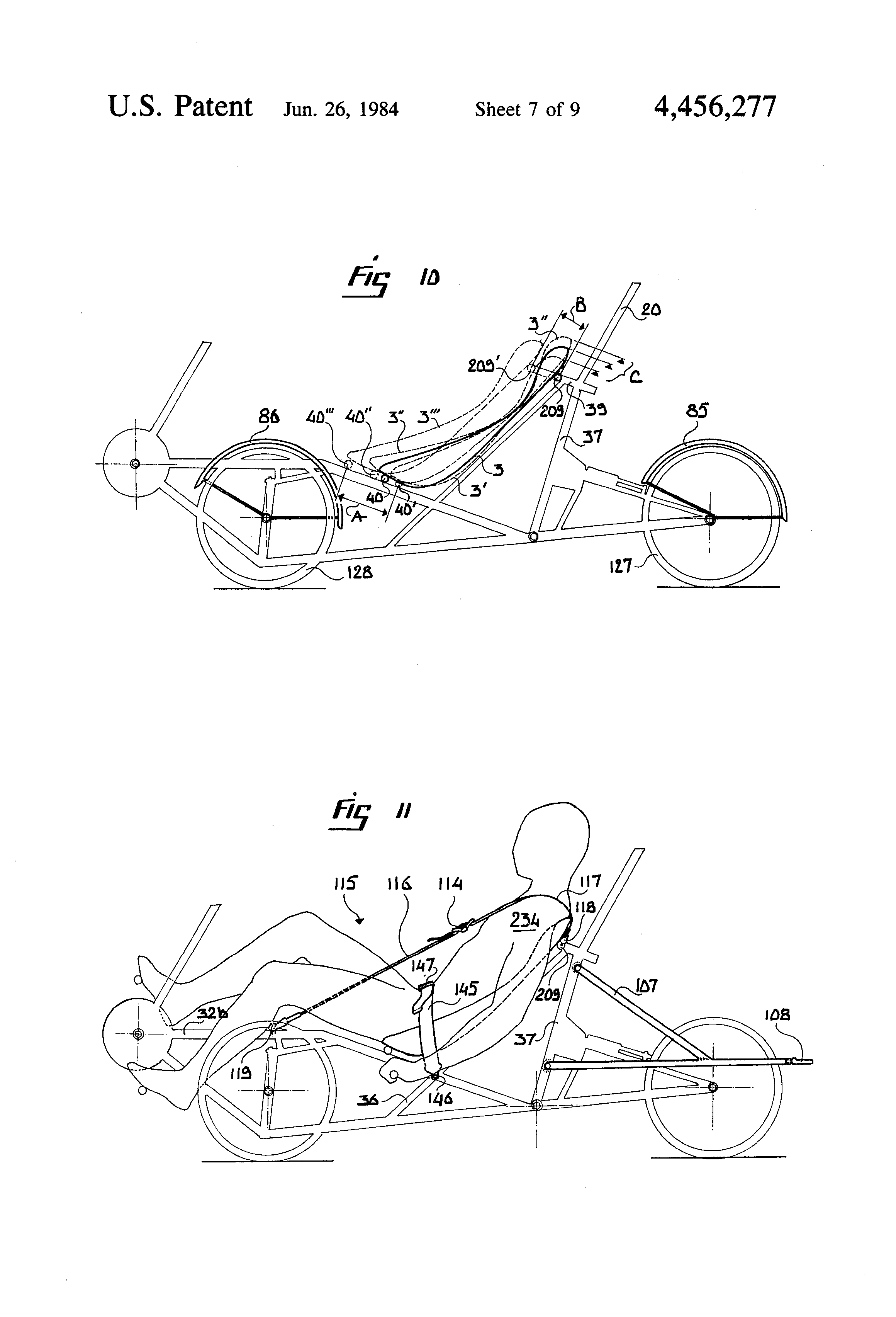 patent us4456277 - tricycle