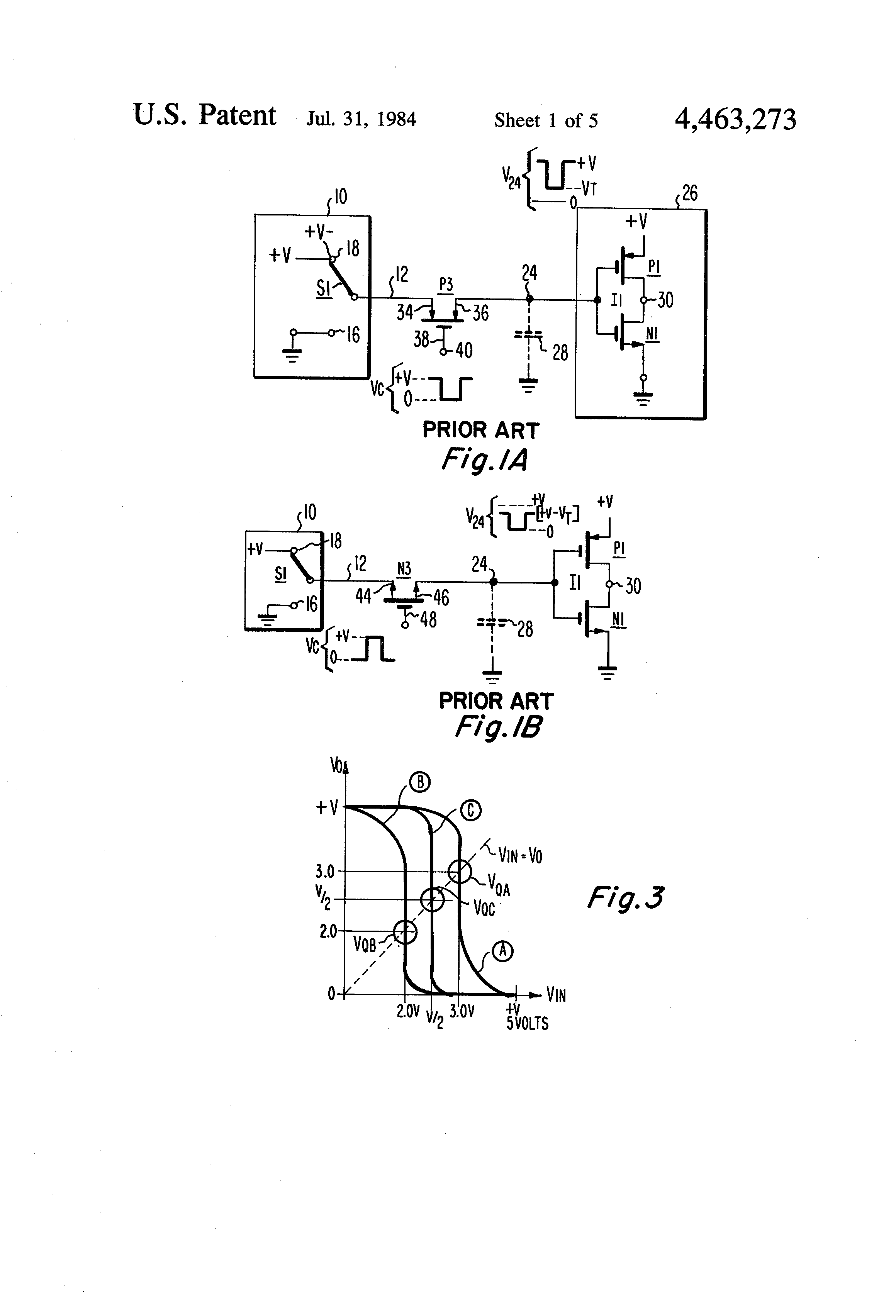 Patent Us4463273 Electronic Circuits And Structures Employing Cmos Gate Circuitry Inverter Circuit Using Igfets Drawing