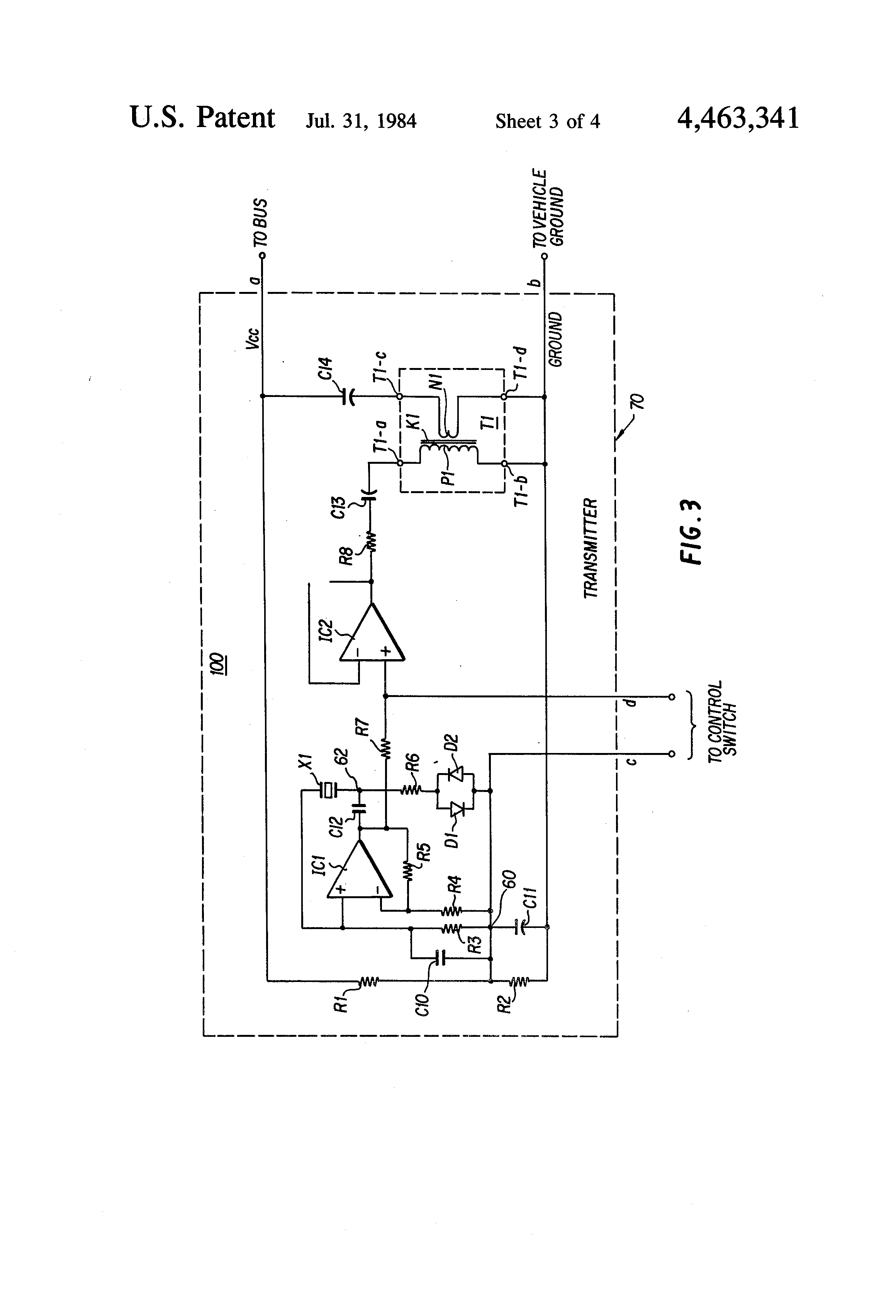 patent us4463341 single conductor multi frequency electric patent drawing
