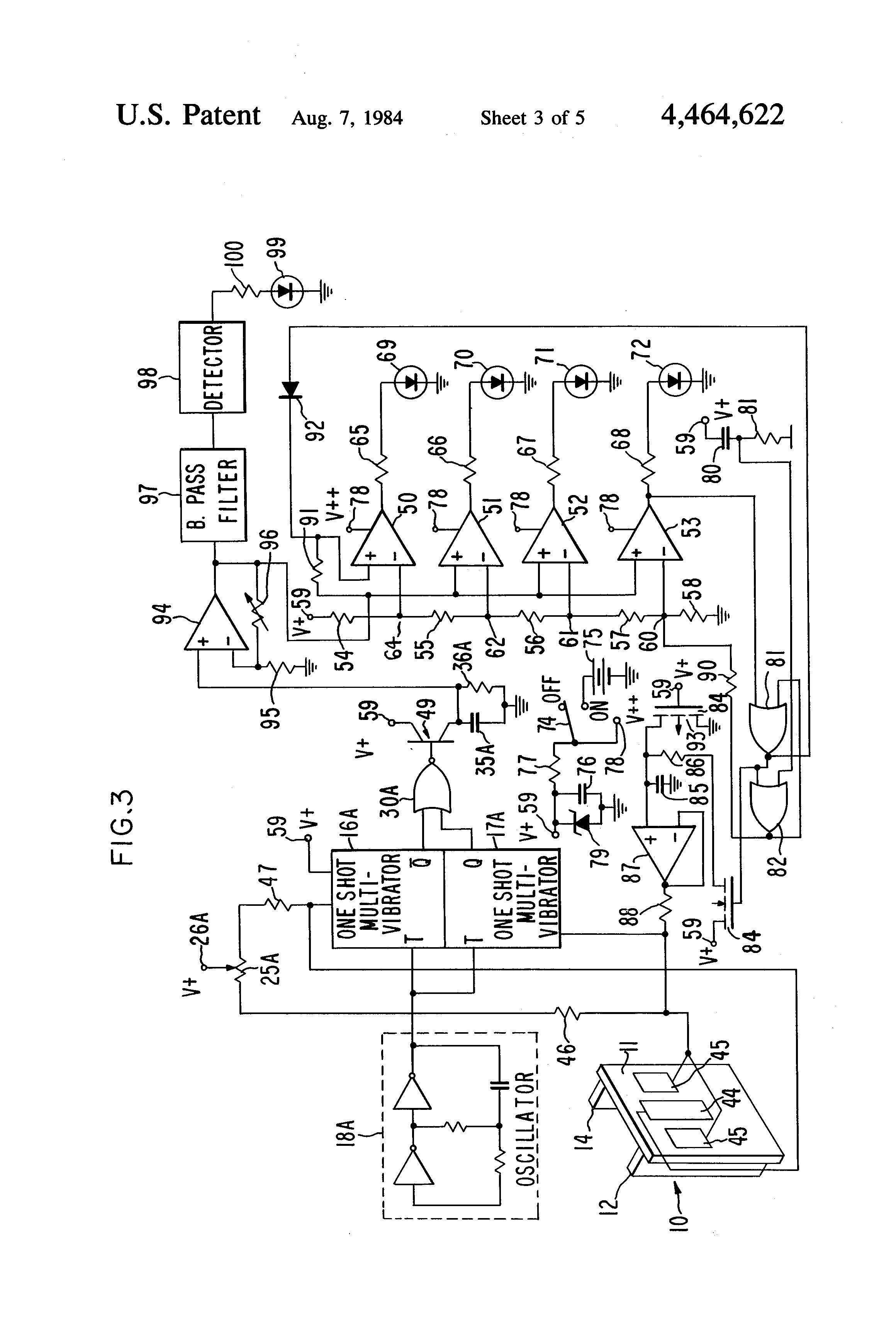 patent us4464622 - electronic wall stud sensor