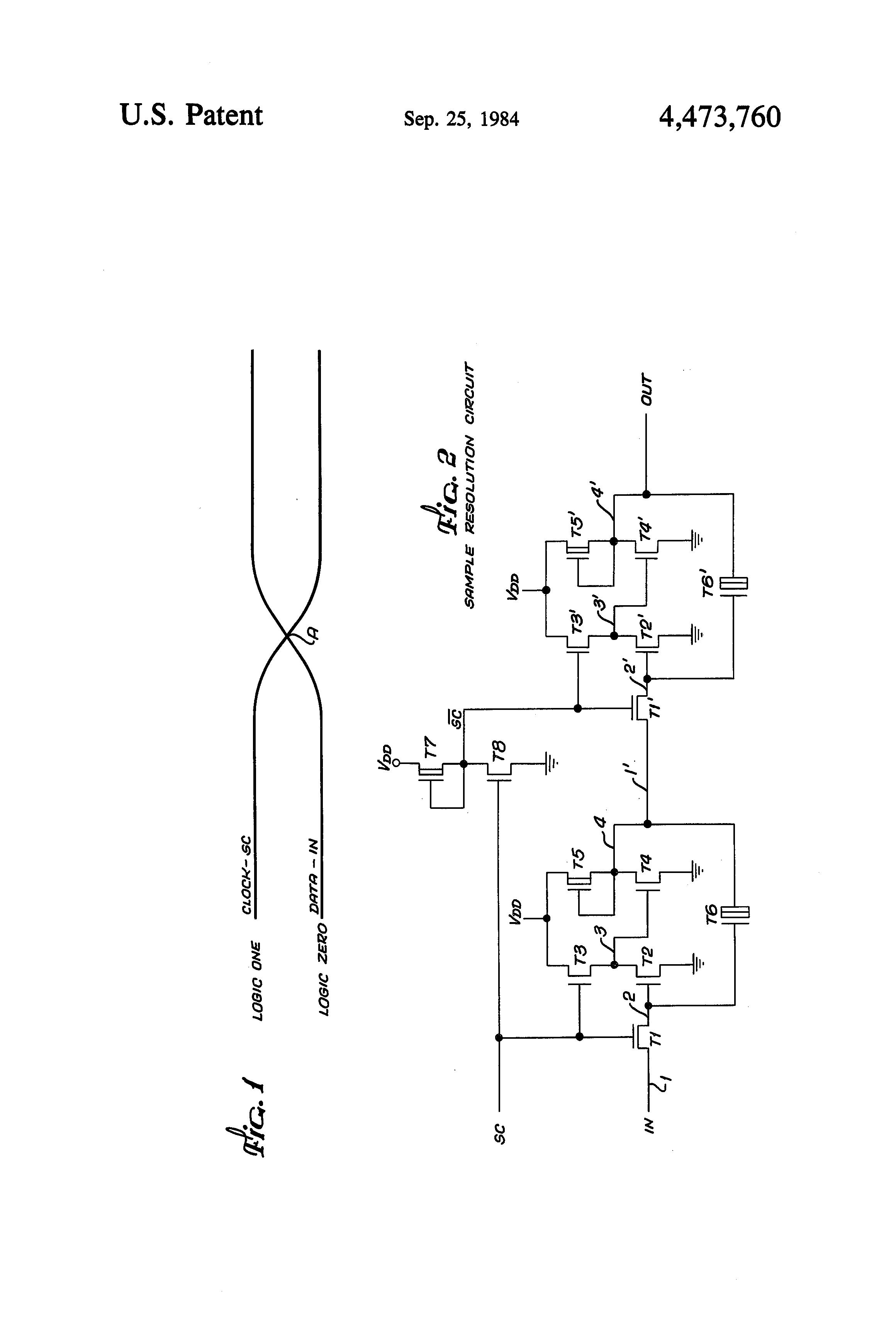 Patent Us4473760 Fast Digital Sample Resolution Circuit Google Electroniccombinationlockcircuitsingletransistor Drawing