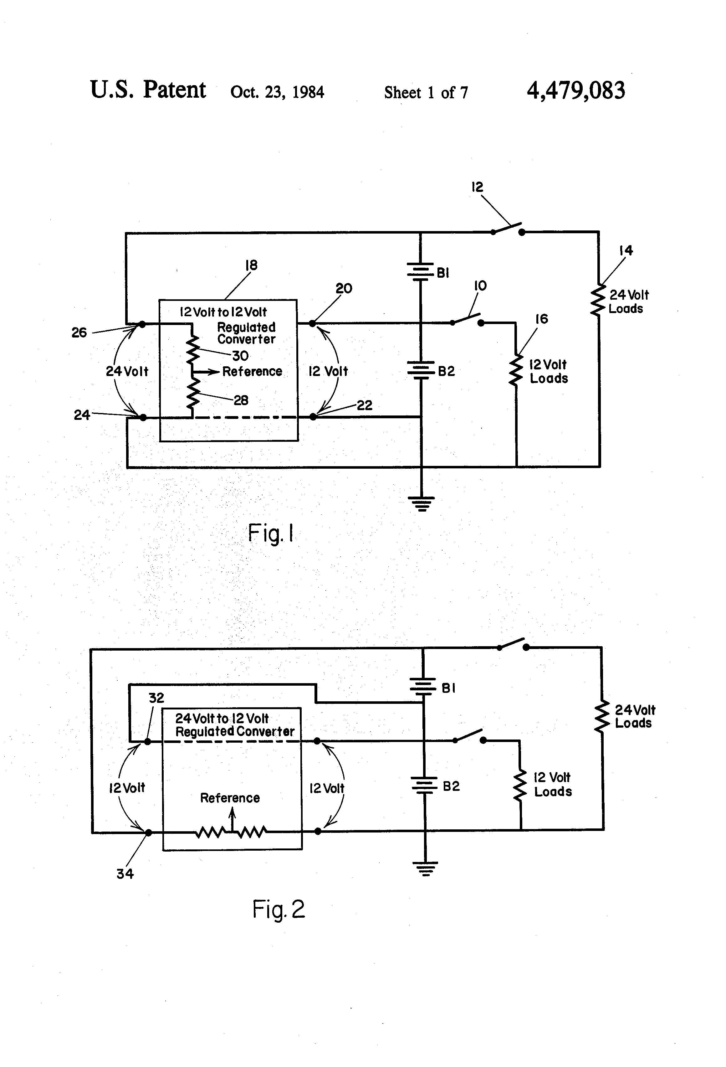 patent us4479083 - dc power system having battery voltage equalizer circuit