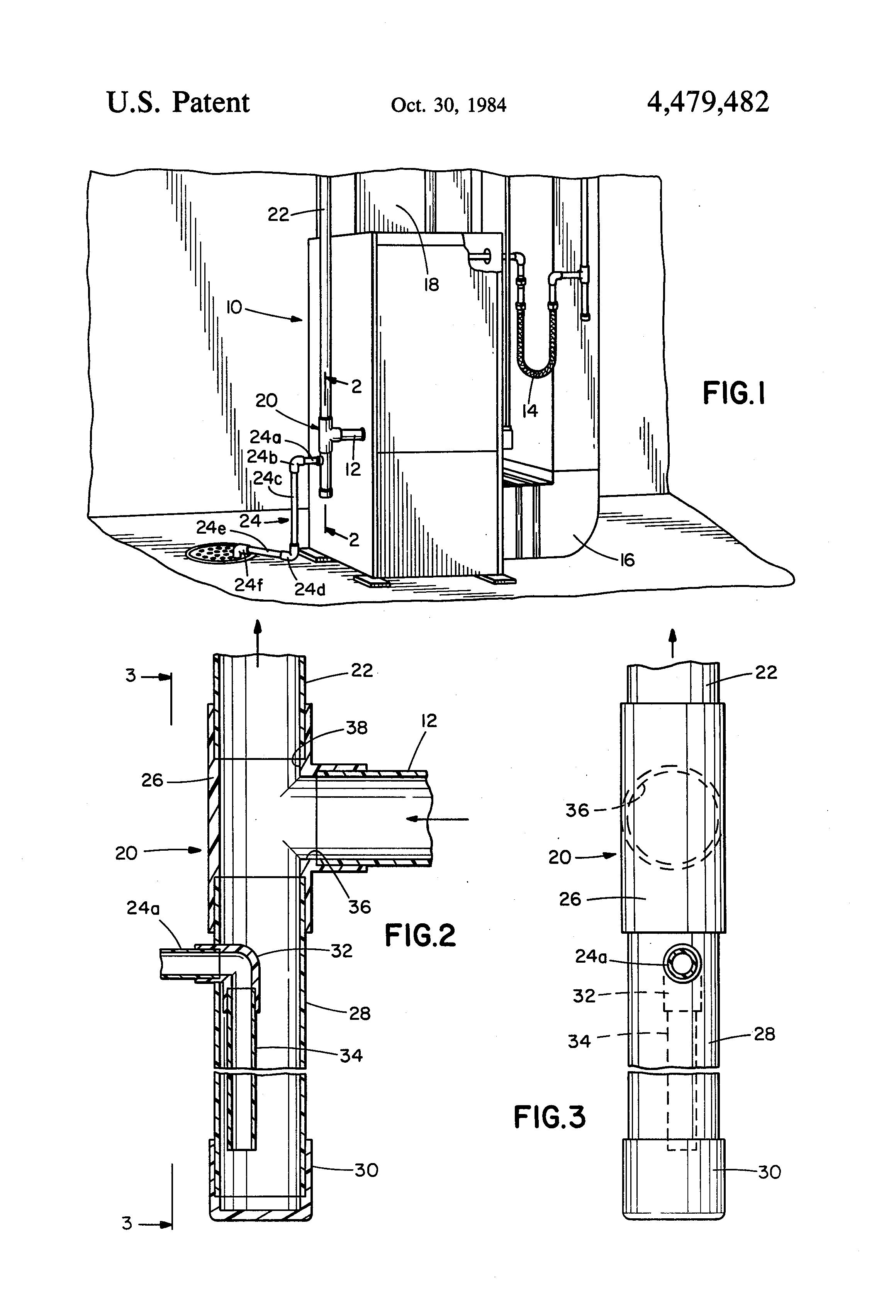 patent us4479482 drain leg assembly google patents patent drawing