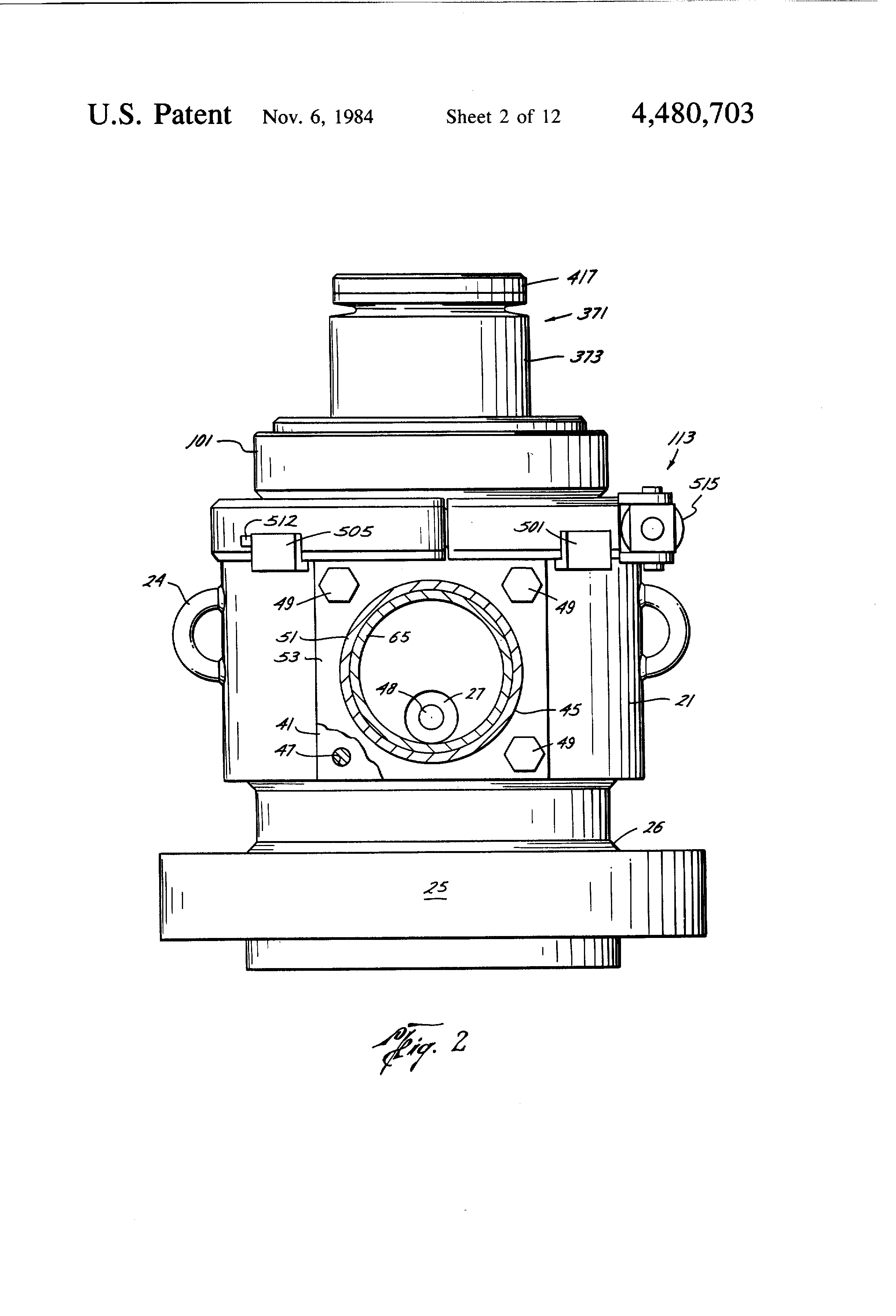 Patent US4480703 Drilling head Google Patents