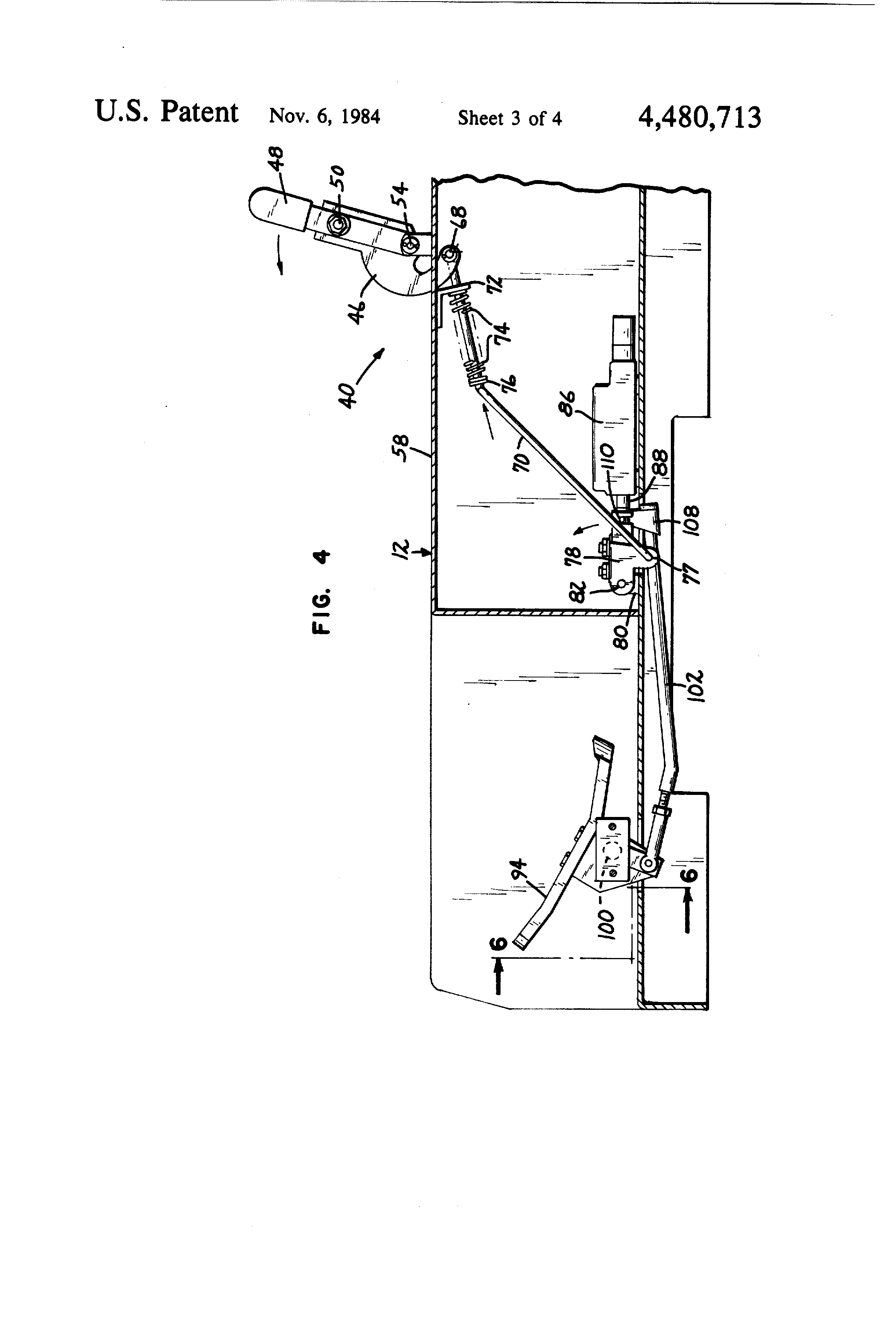 patent us4480713 operator restraint control lockout system patent drawing