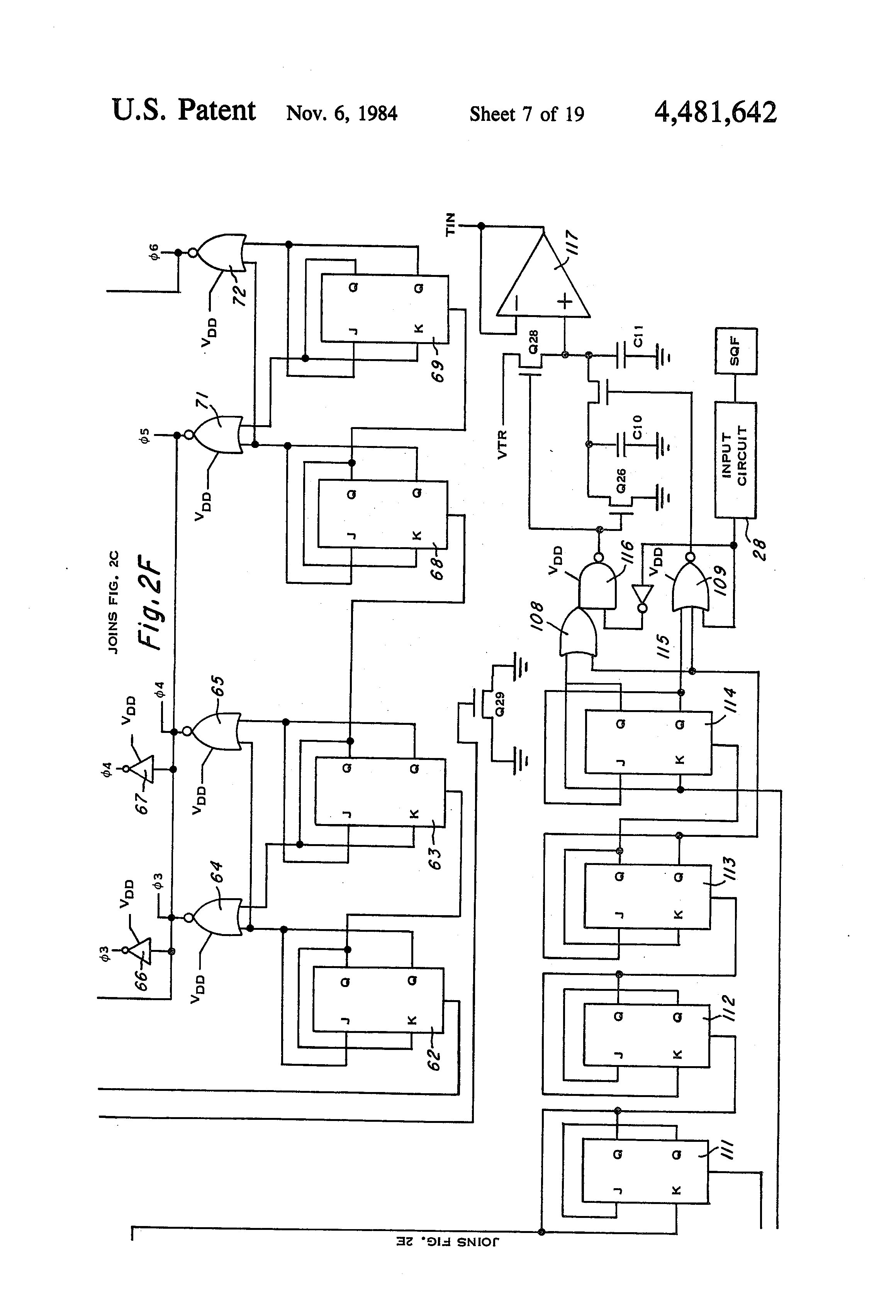 patent us4481642 - integrated circuit fsk modem
