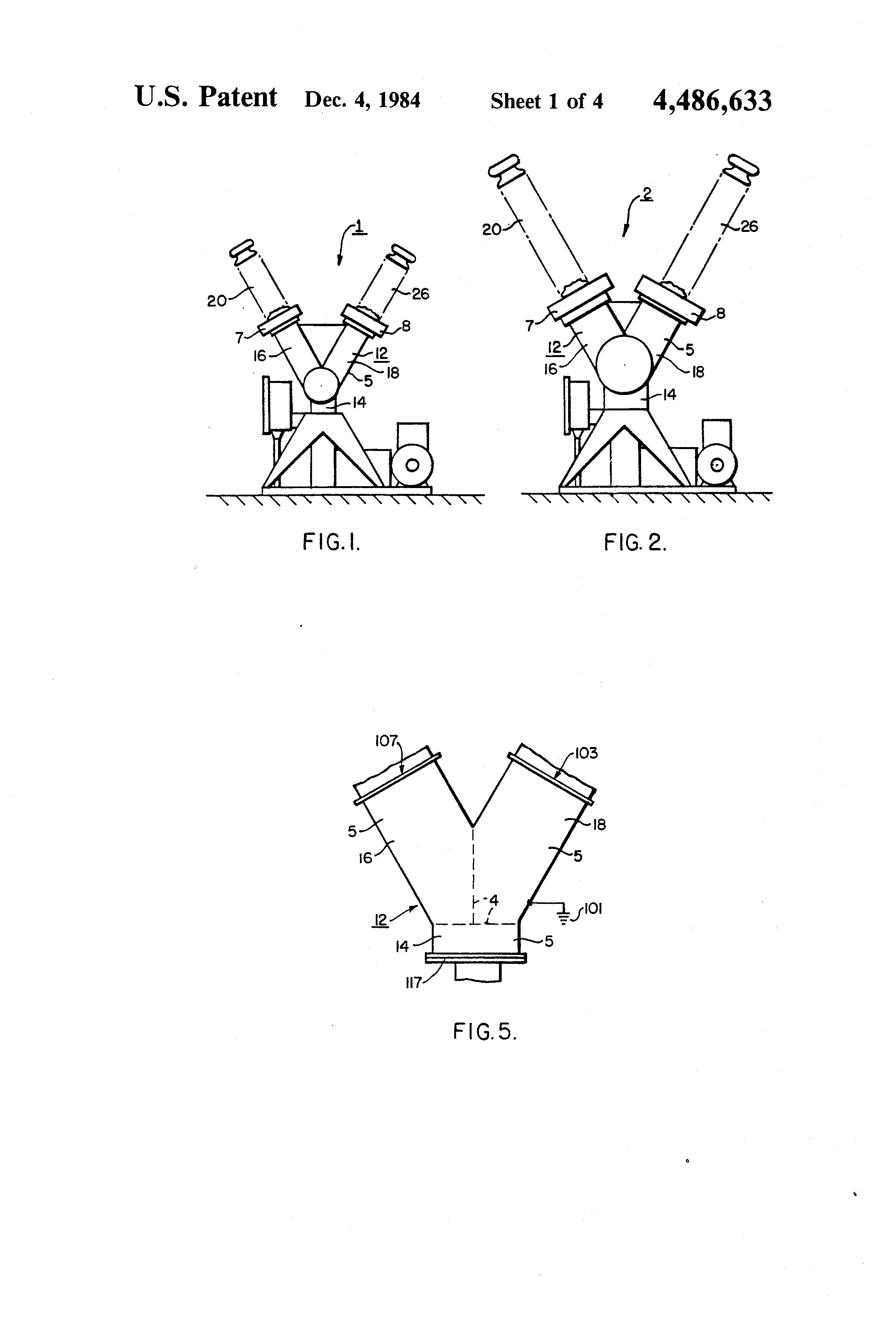 Patent Us4486633 High Voltage Y Shaped Dead Tank Circuit Pin Diagram Photo Interrupter Module Drawing