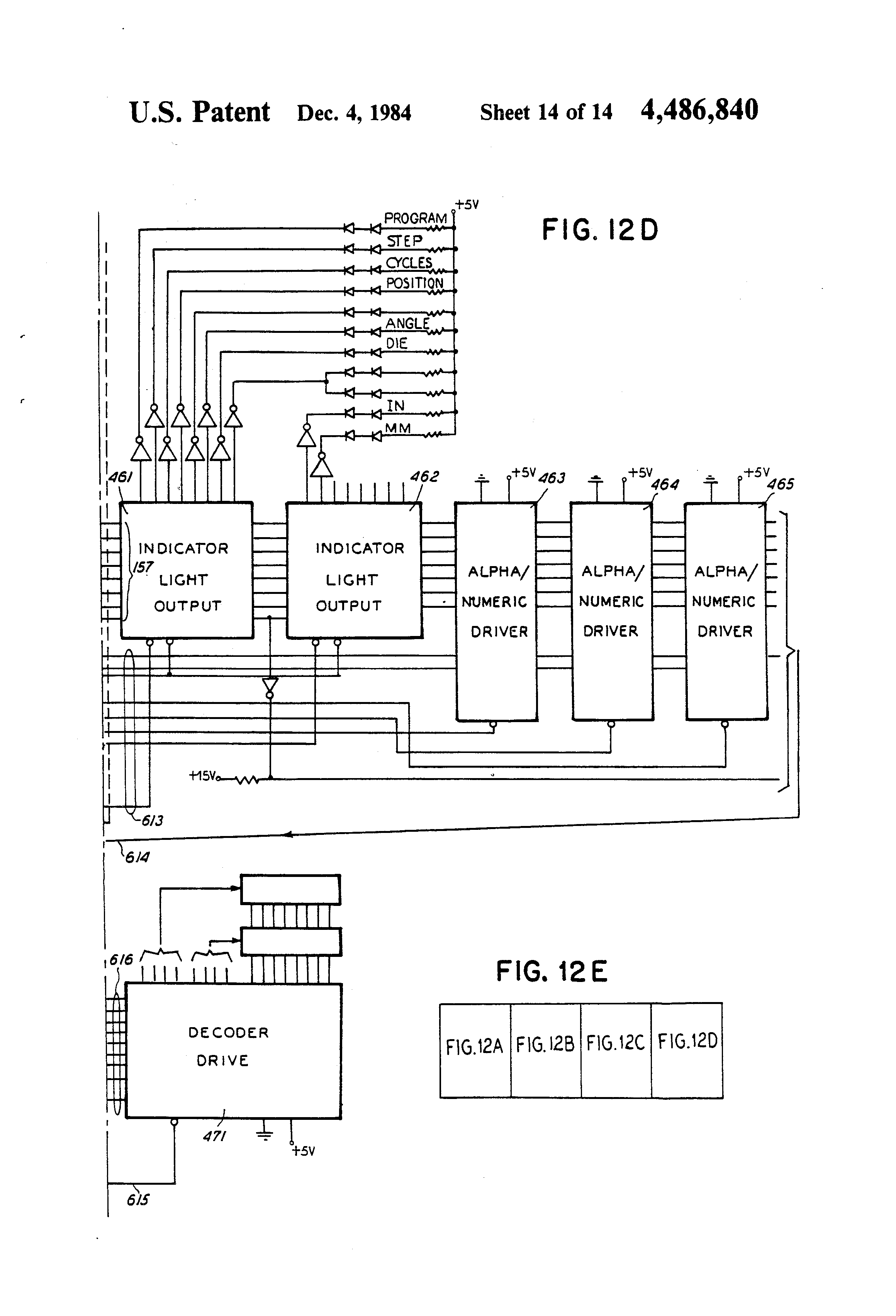 patent us4486840 - computer numeric control for metal forming