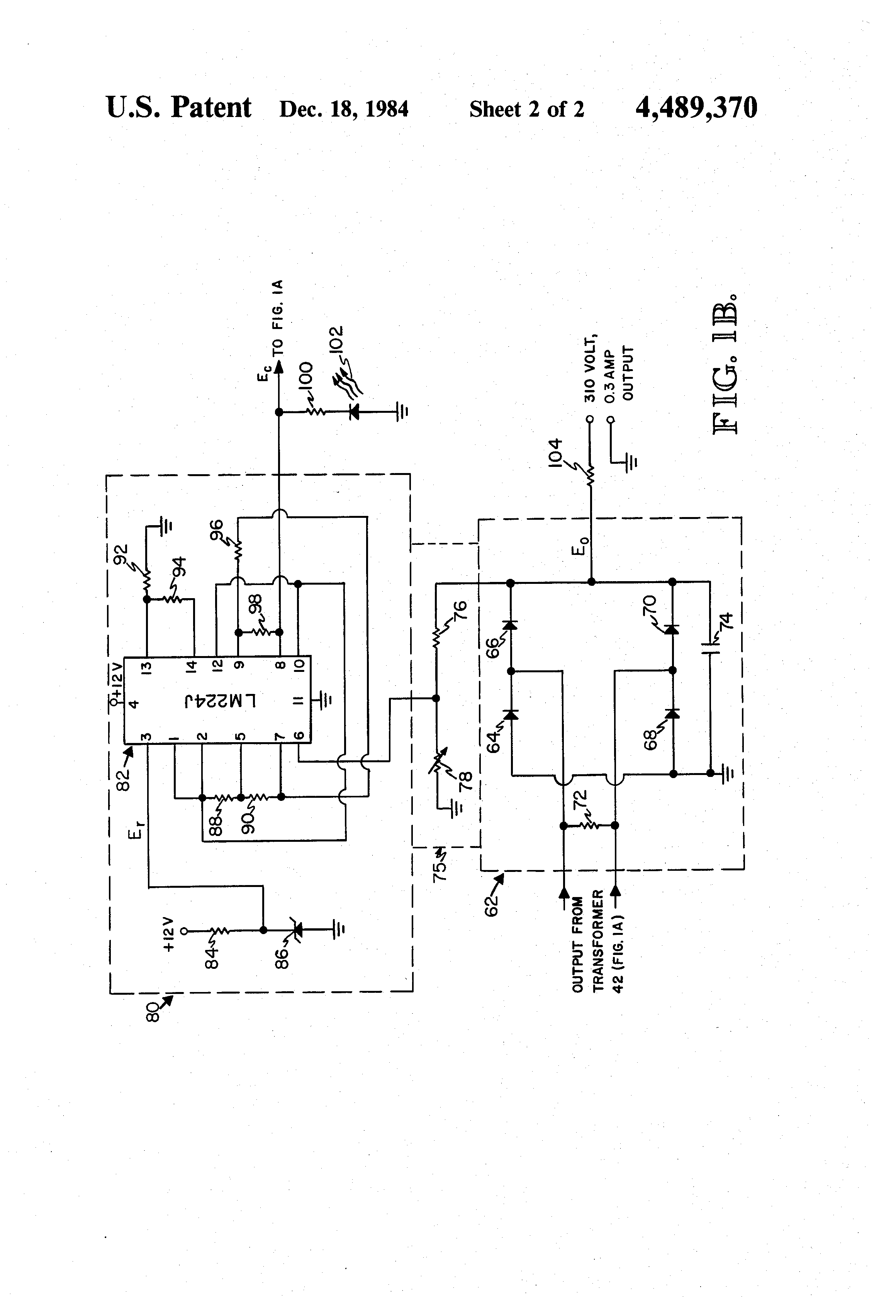 Patent Us4489370 High Capacity Dc Voltage Converter Suitable Integrated Circuit The 4047 Astable Monostable Multivibrator Drawing
