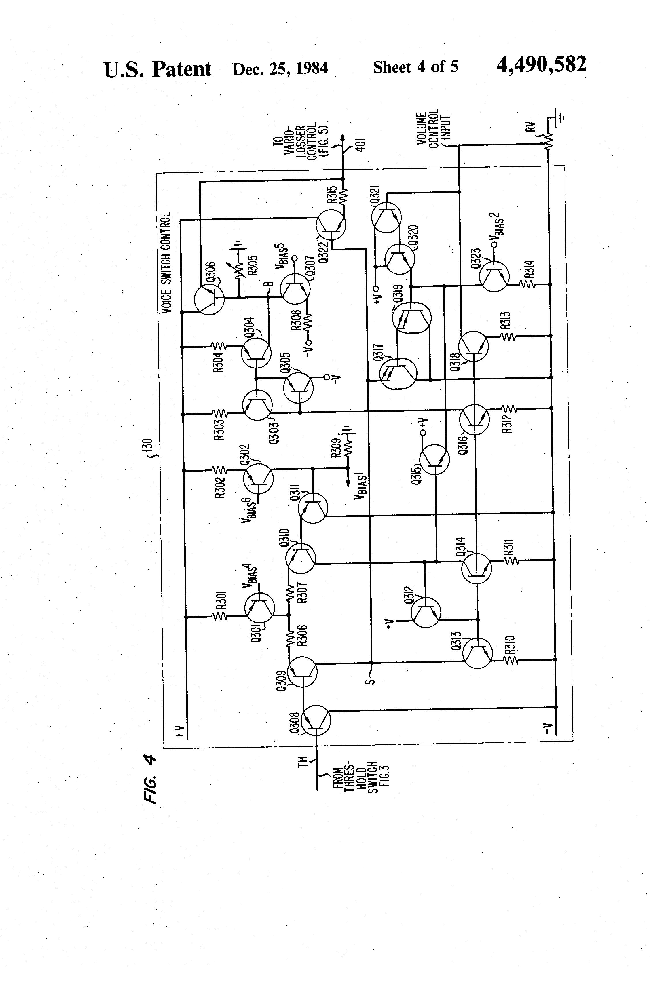 patent us4490582 - speakerphone control circuit