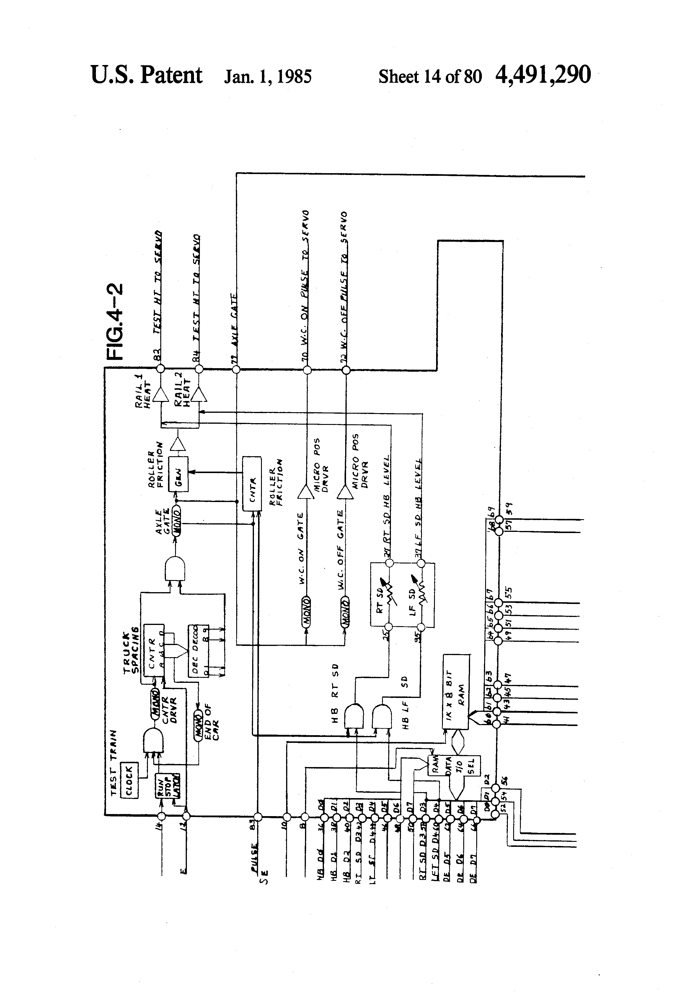 Patent Us4491290 Train Defect Detecting And Enunciating System Circuit Diagram Of Digital Isolation Termination Drawing
