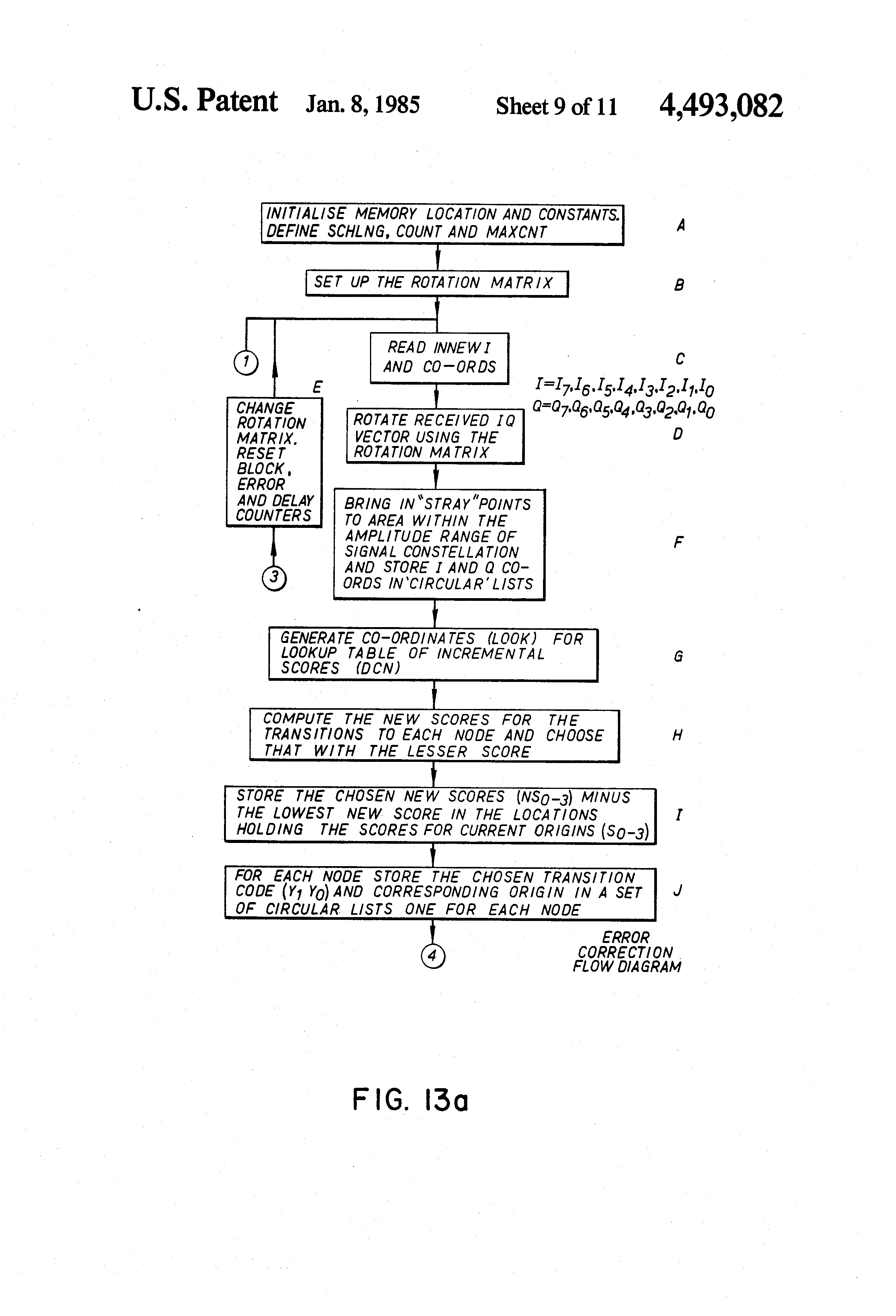 Patent US4493082 Soft decision convolutional code transmission