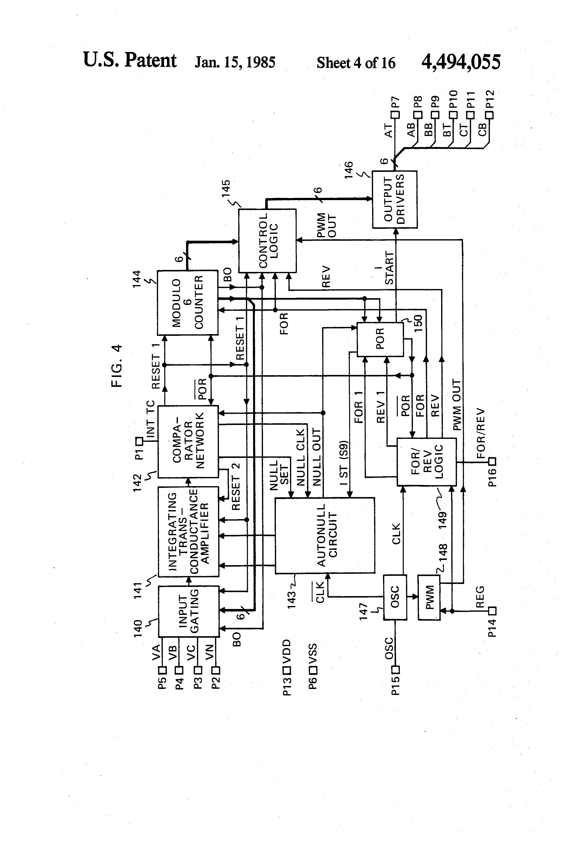 Patent us4494055 control circuit for an electronically for Electronically commutated motor ecm