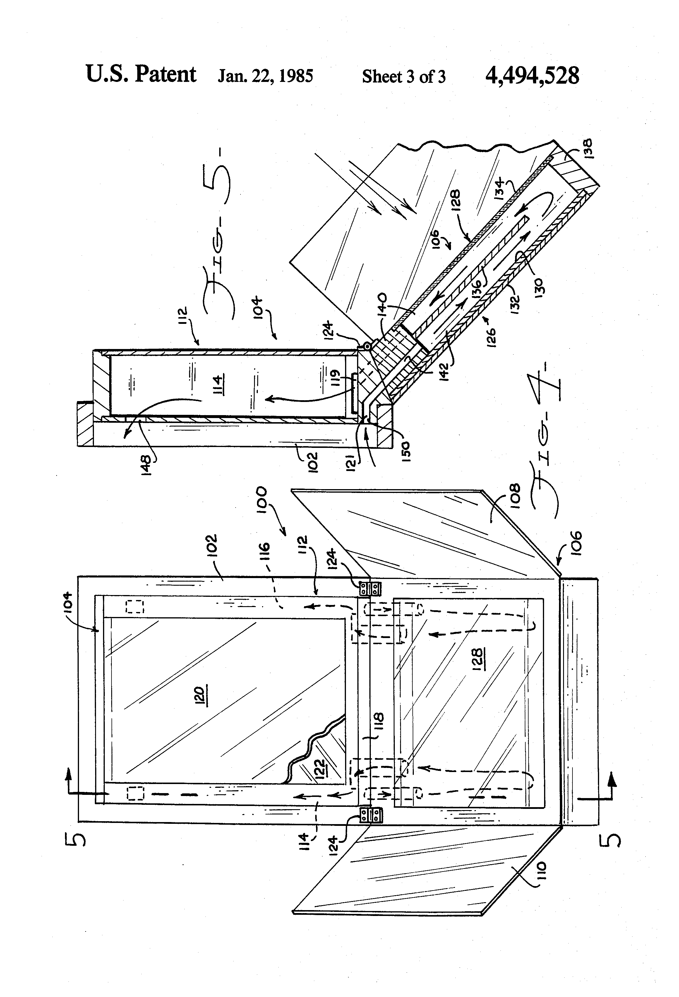 Patent Us4494528 Solar Heating System For Beehives And Other Beehive Phone Wiring Diagram Drawing