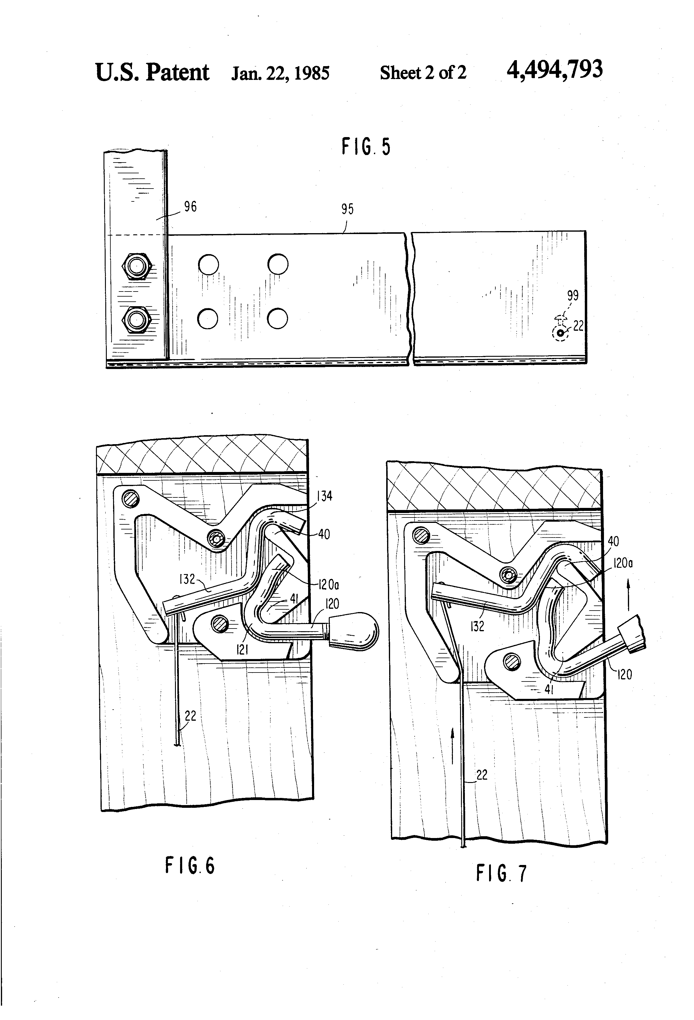 Patent Drawing  sc 1 st  Google & Patent US4494793 - Trigger release mechanism for reclining chair ... islam-shia.org