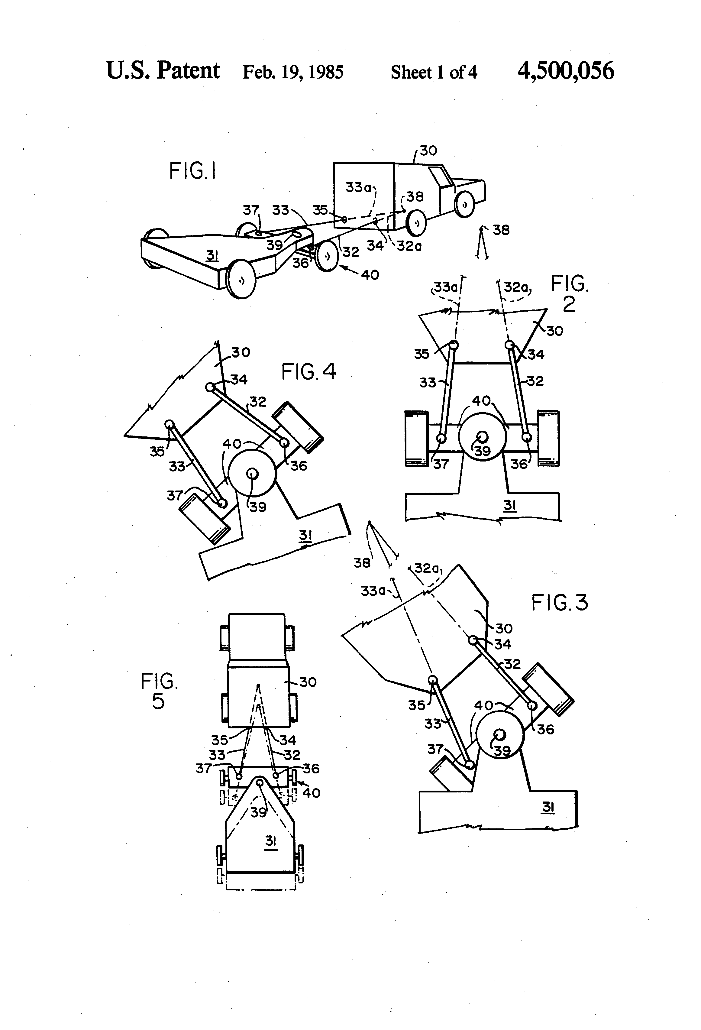 Patent Us4500056 Aircraft Towing And Carrying Linkage Systems Norbert Trailer Wiring Diagram Drawing