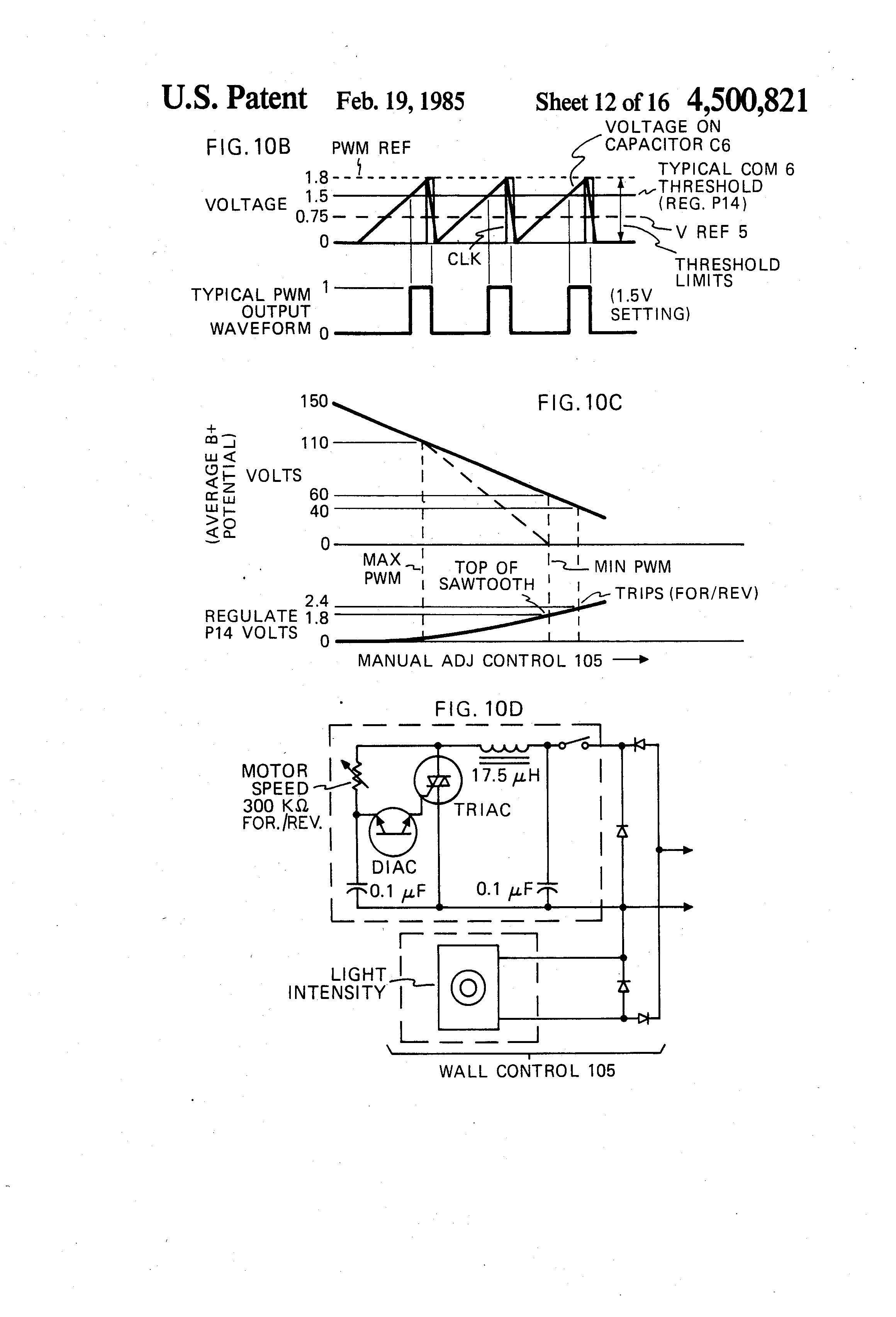 Patente Us4500821 Speed Or Torque Control Circuit For An Temperature Controlled Triac A Fan Scr Flipflop Patent Drawing