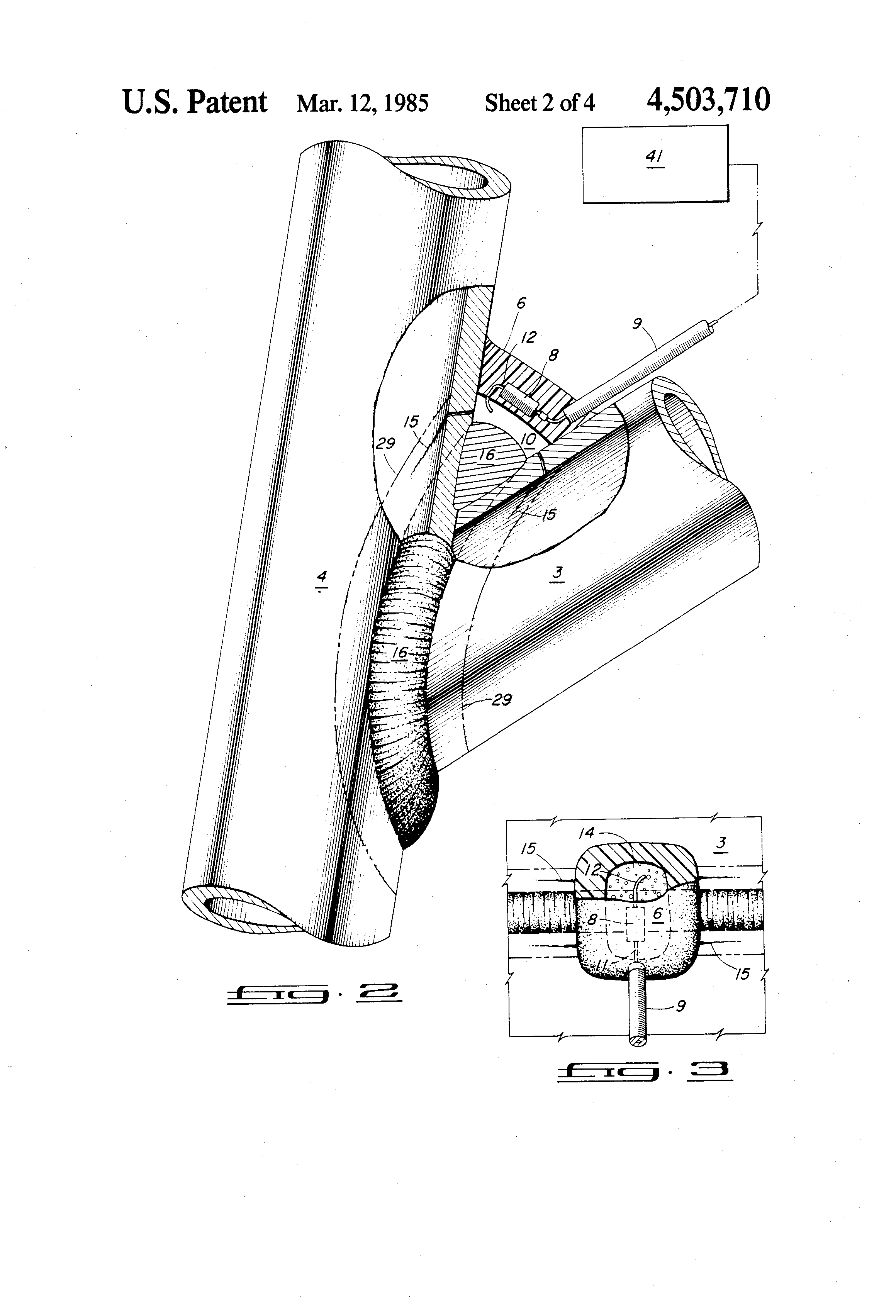 patent us4503710 crack detection by electrical resistance Touch-Plate Wiring Diagrams patent drawing