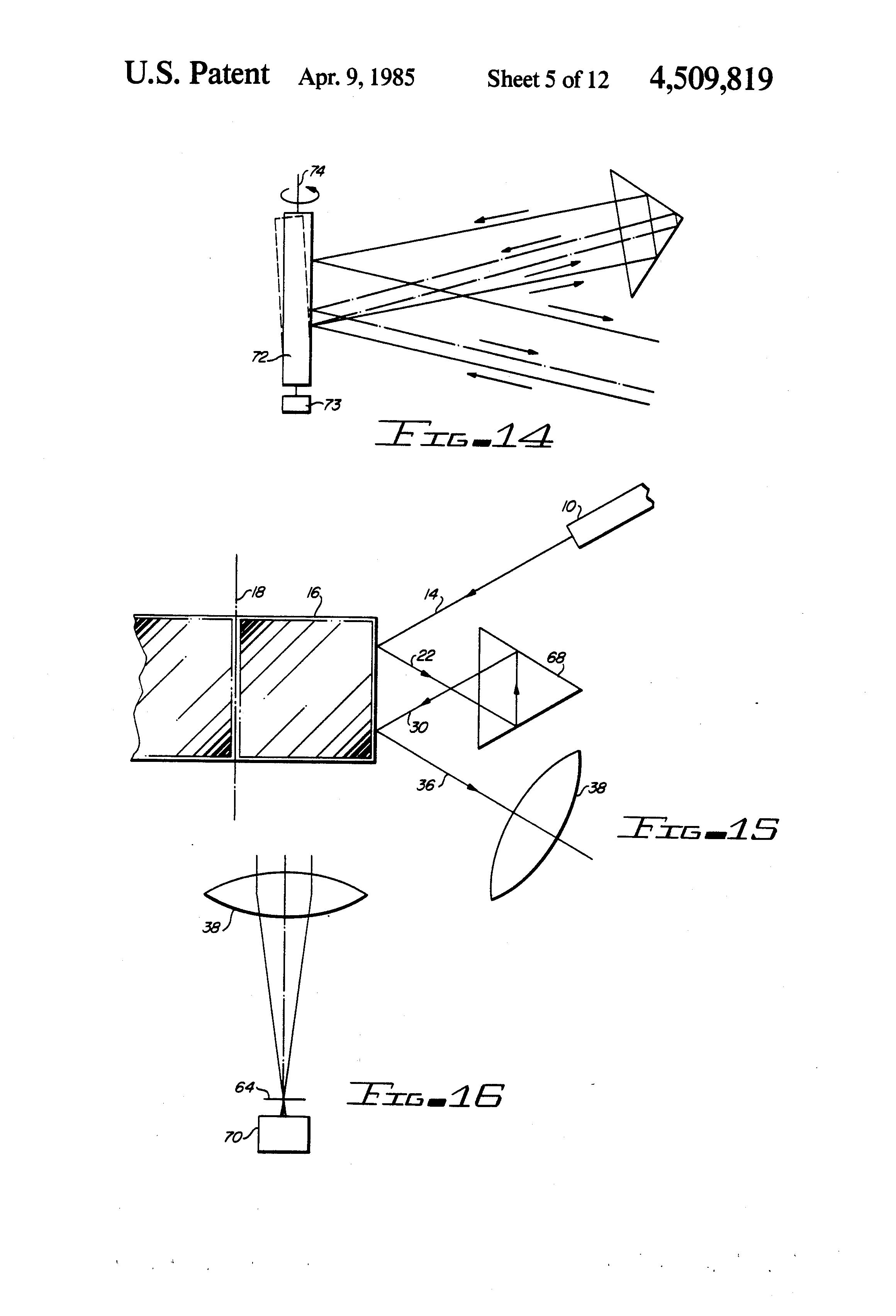 patent us4509819 - optical beam pulse generator