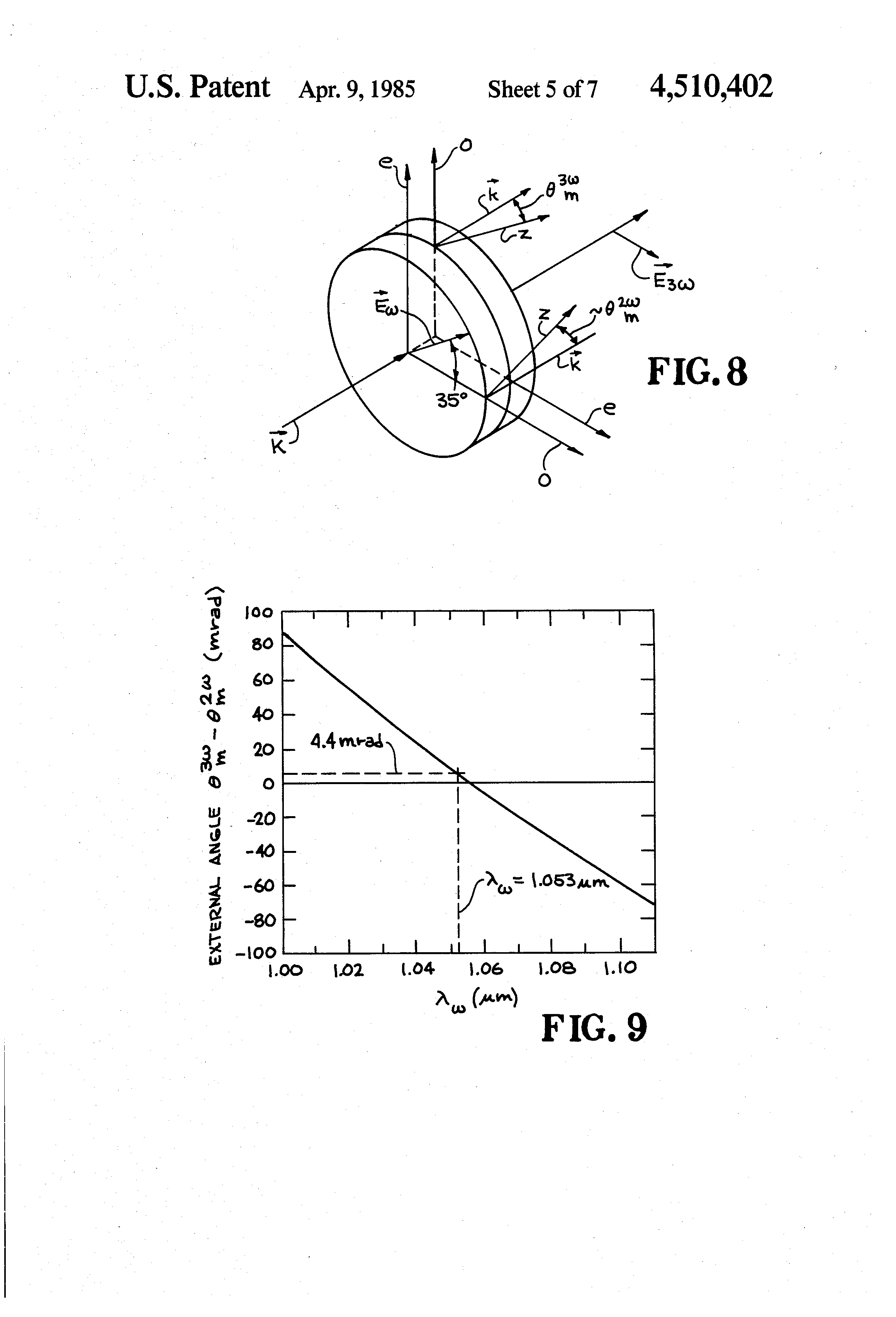 patent us4510402 - optical harmonic generator