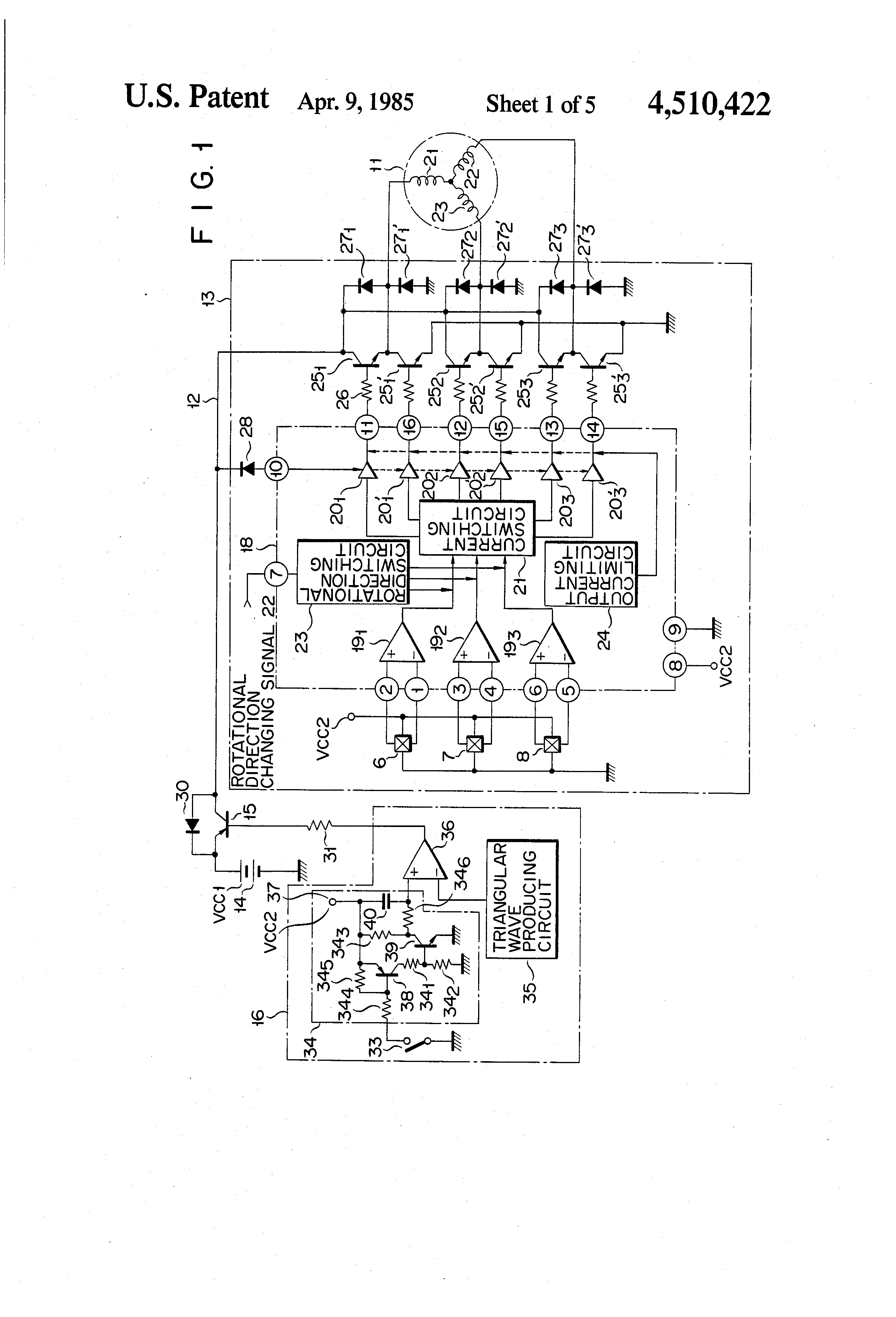 Patent US4510422 - DC Motor soft-start circuit - Google Patents on