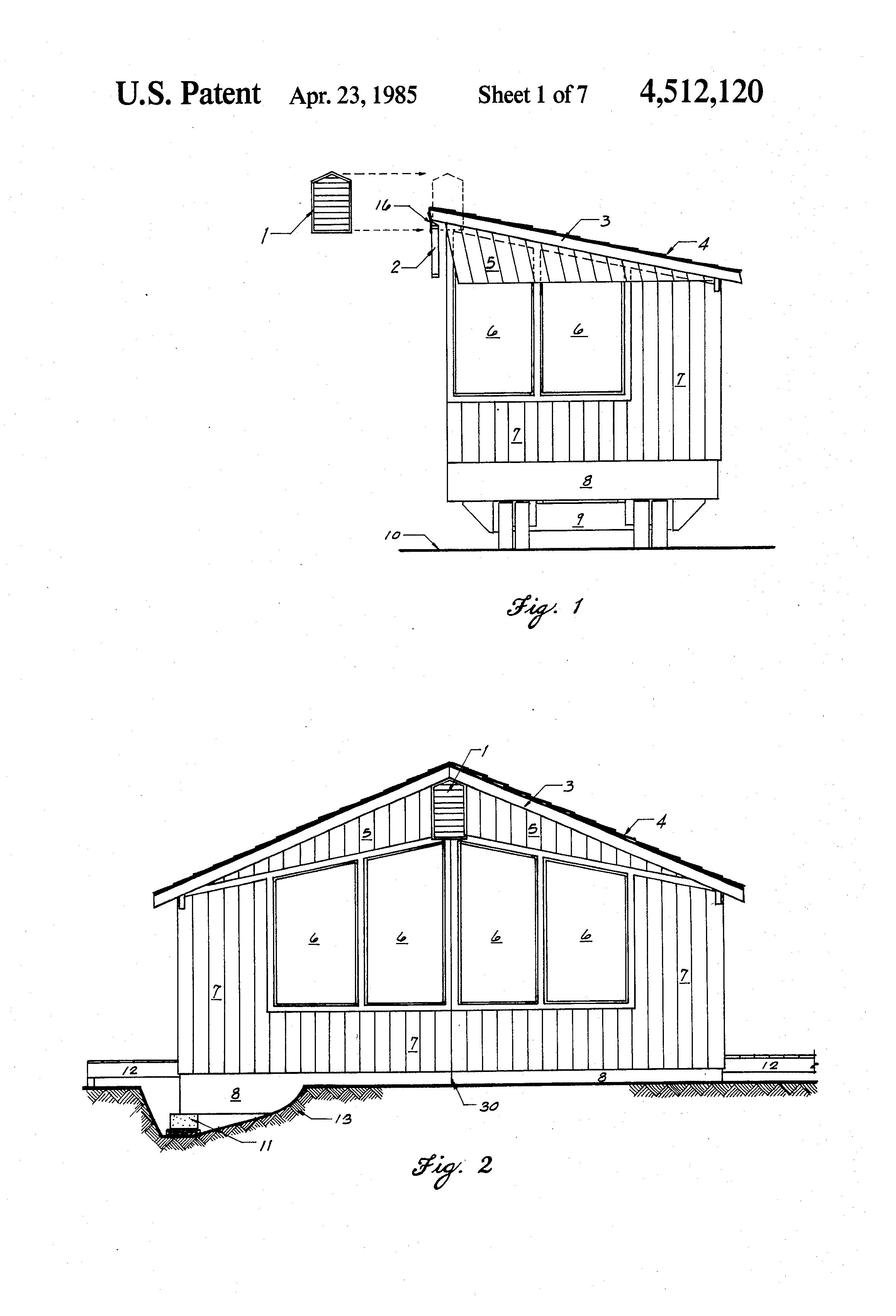 patent us4512120 - modular home construction