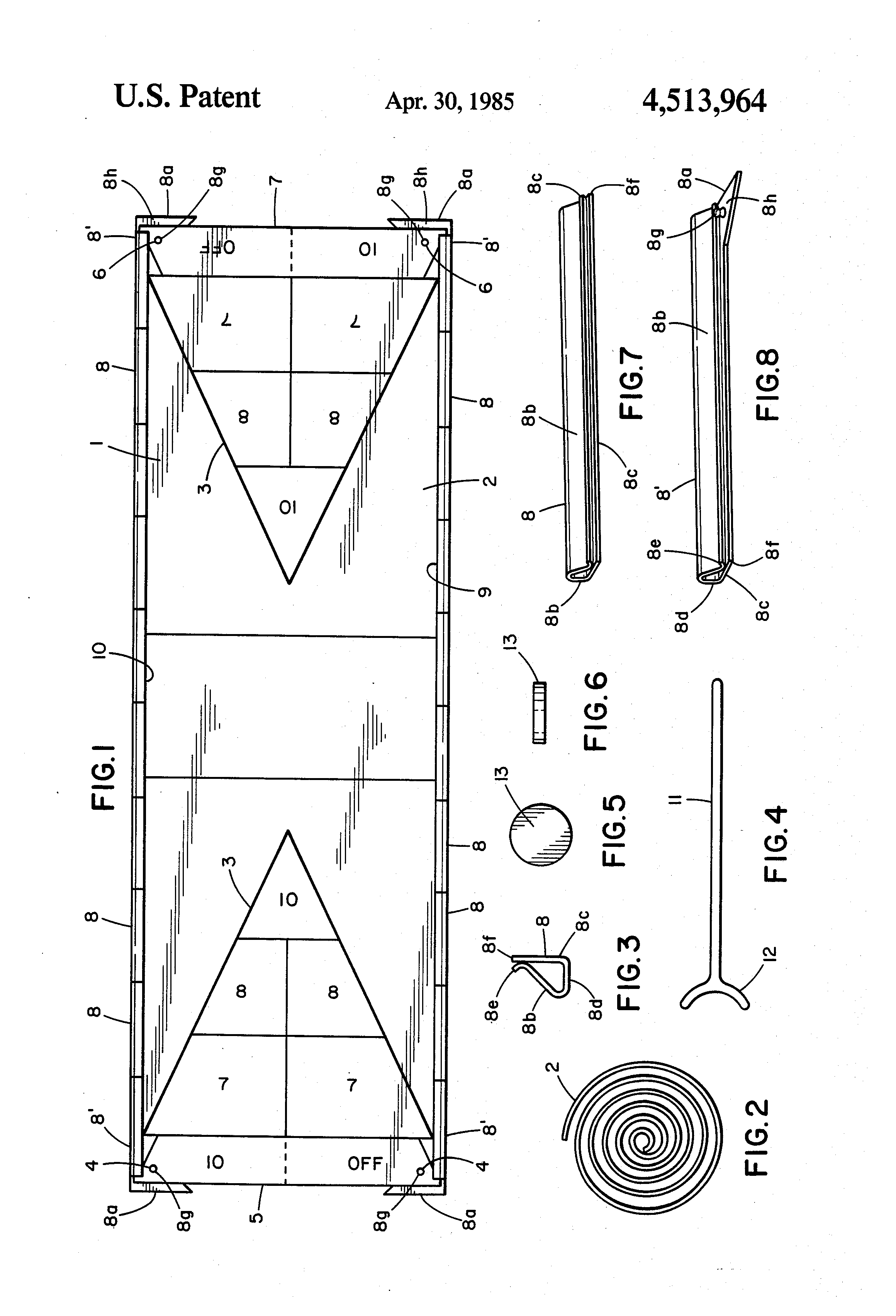 Shuffleboard court diagram