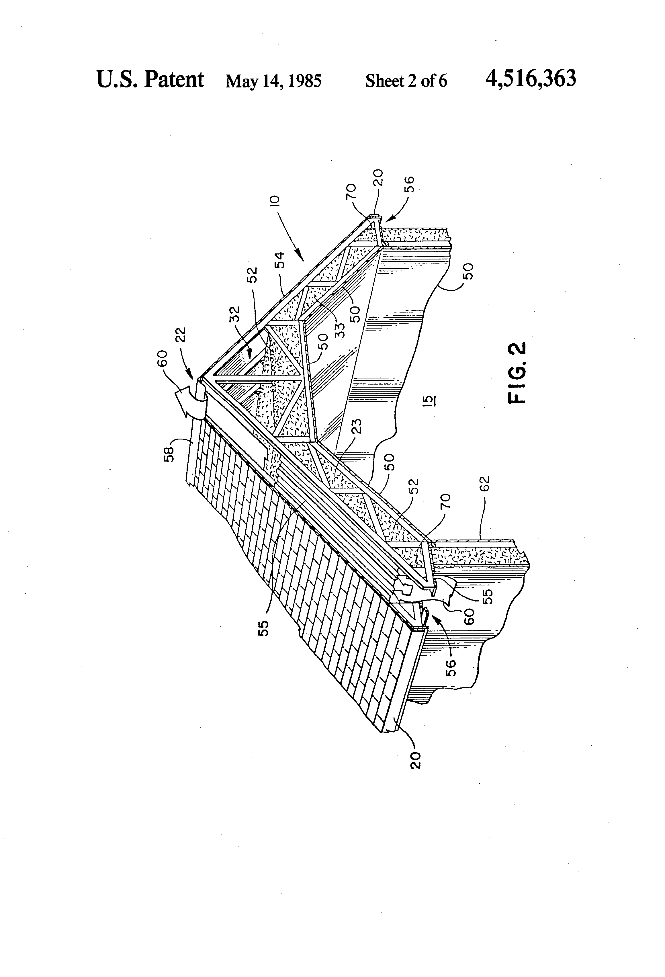 Patent Us4516363 Superinsulation Roof Rafter Trusses And