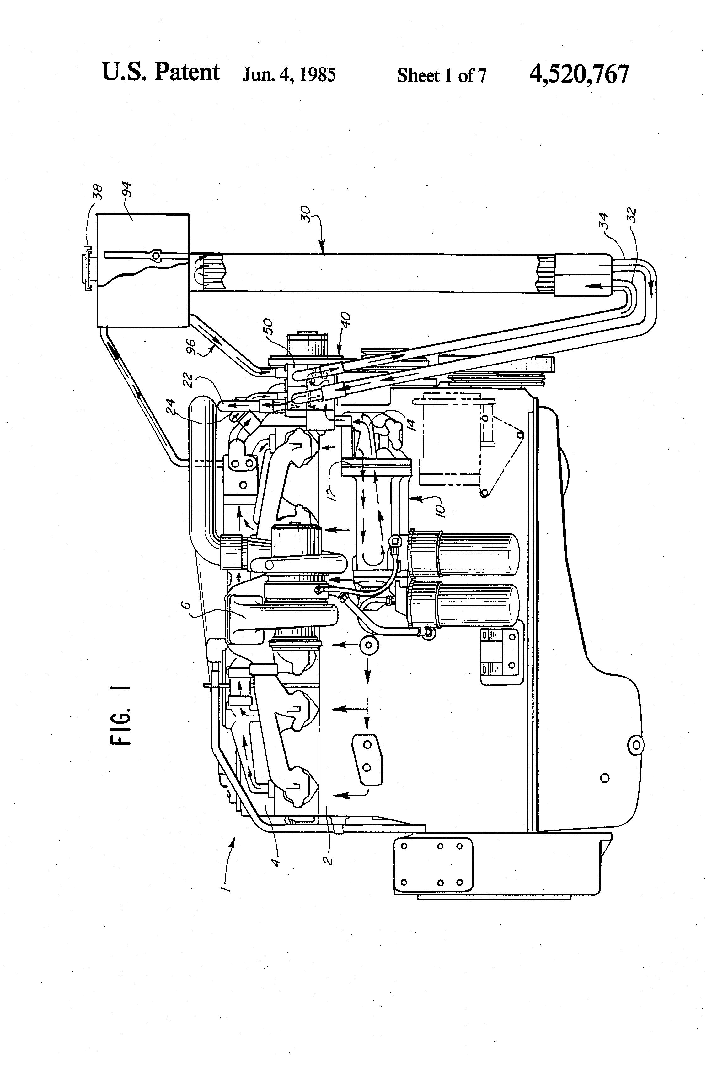 patent us4520767 - low flow cooling system and apparatus