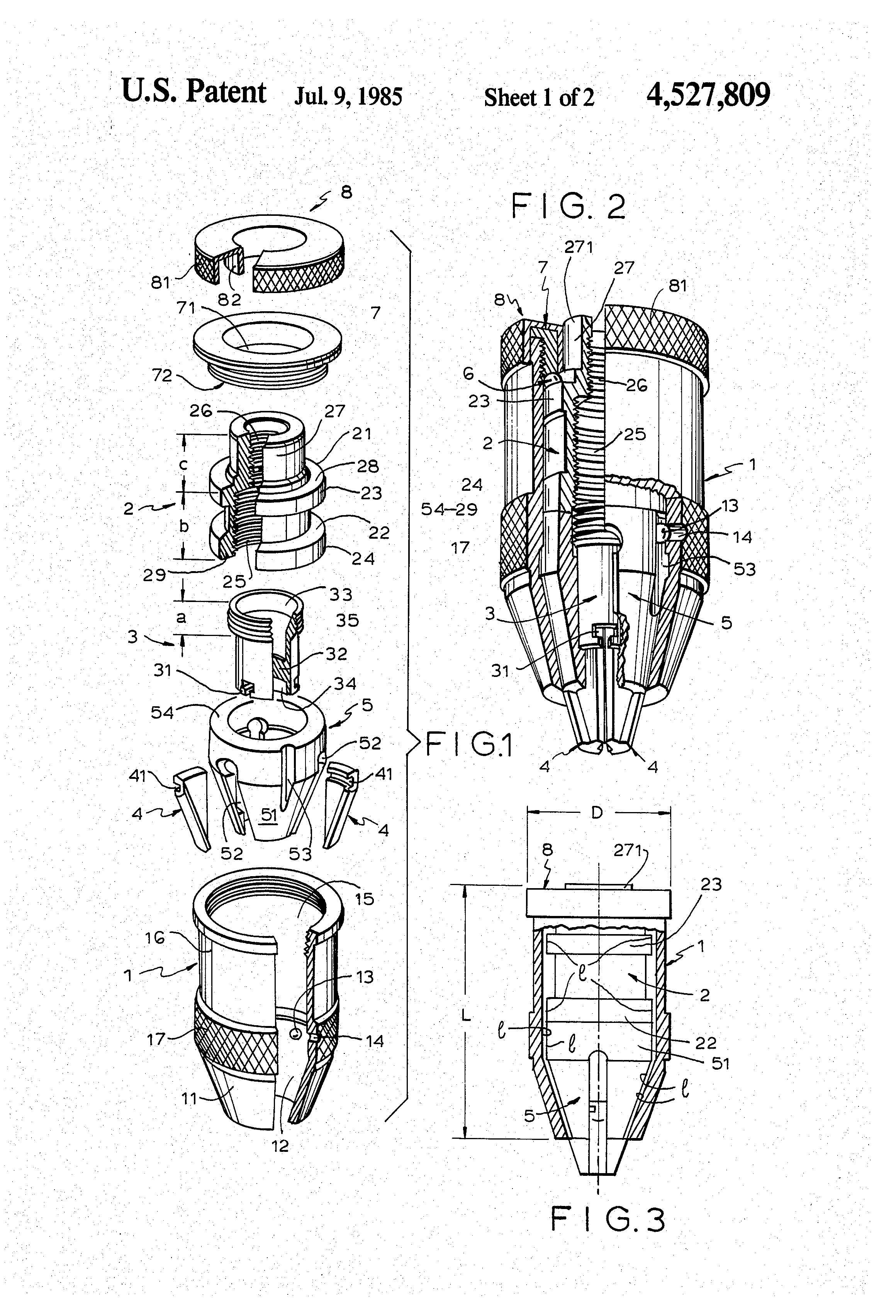 patent us4527809